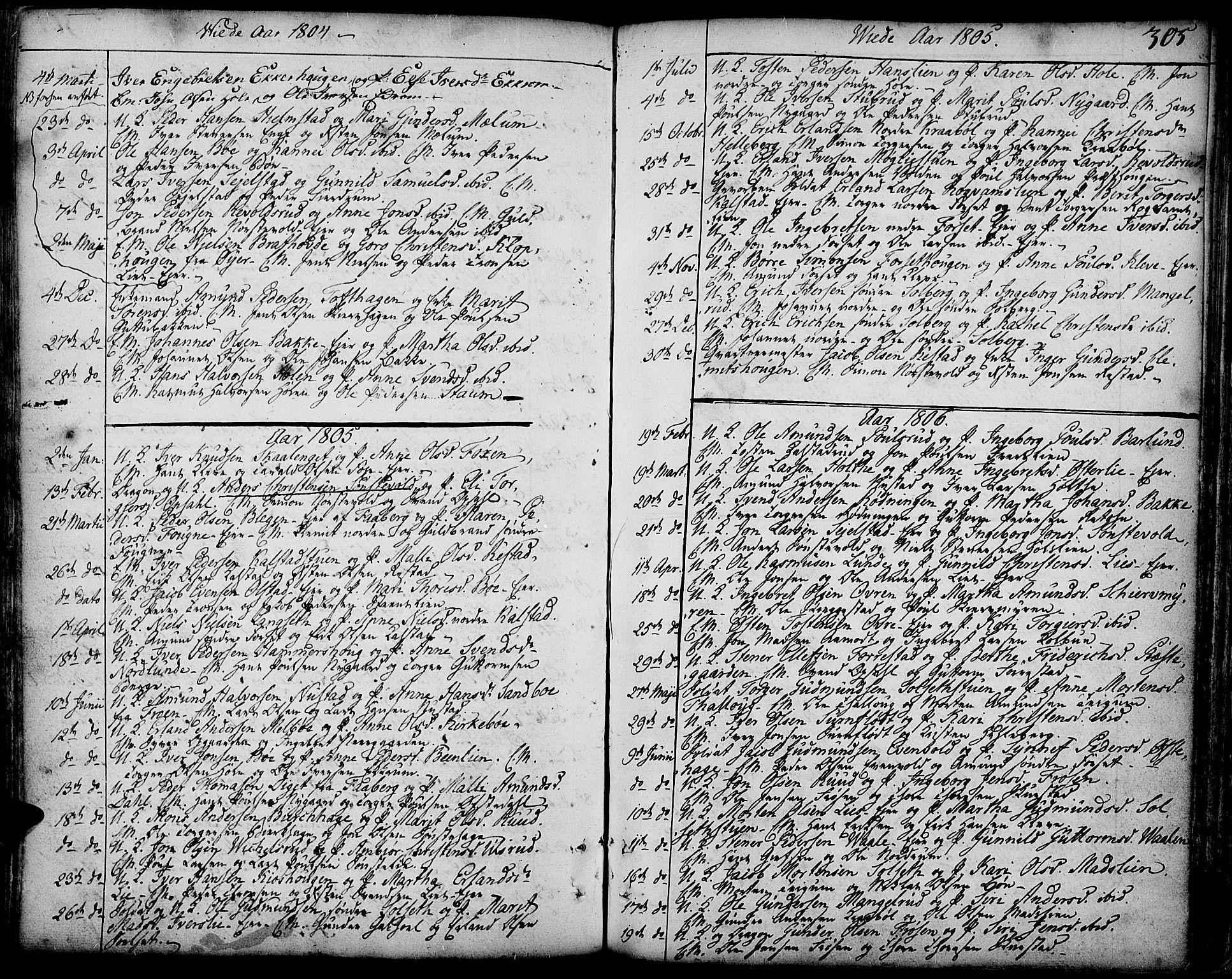 SAH, Gausdal prestekontor, Ministerialbok nr. 3, 1758-1809, s. 305
