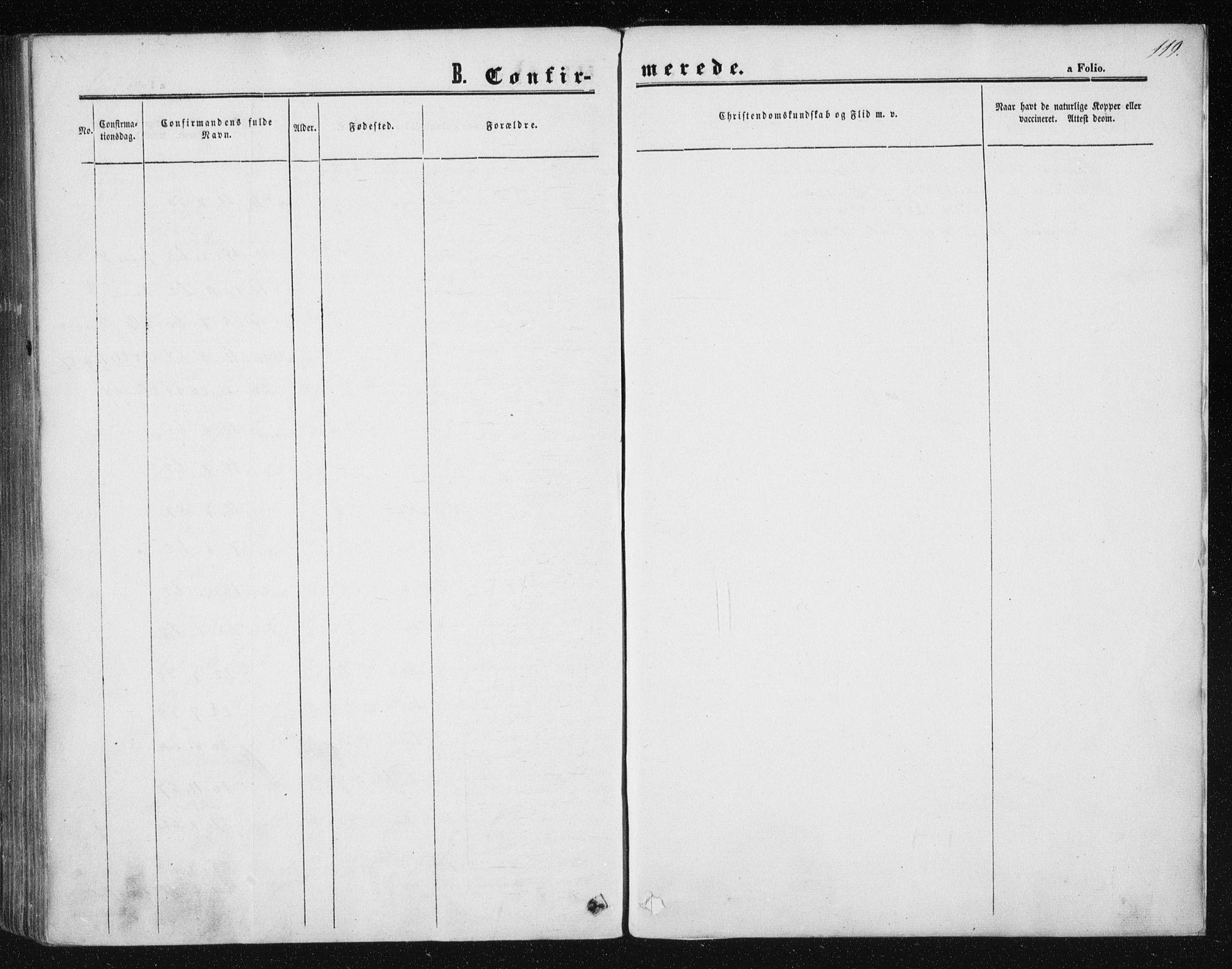 SAT, Ministerialprotokoller, klokkerbøker og fødselsregistre - Sør-Trøndelag, 602/L0114: Ministerialbok nr. 602A12, 1856-1872, s. 119