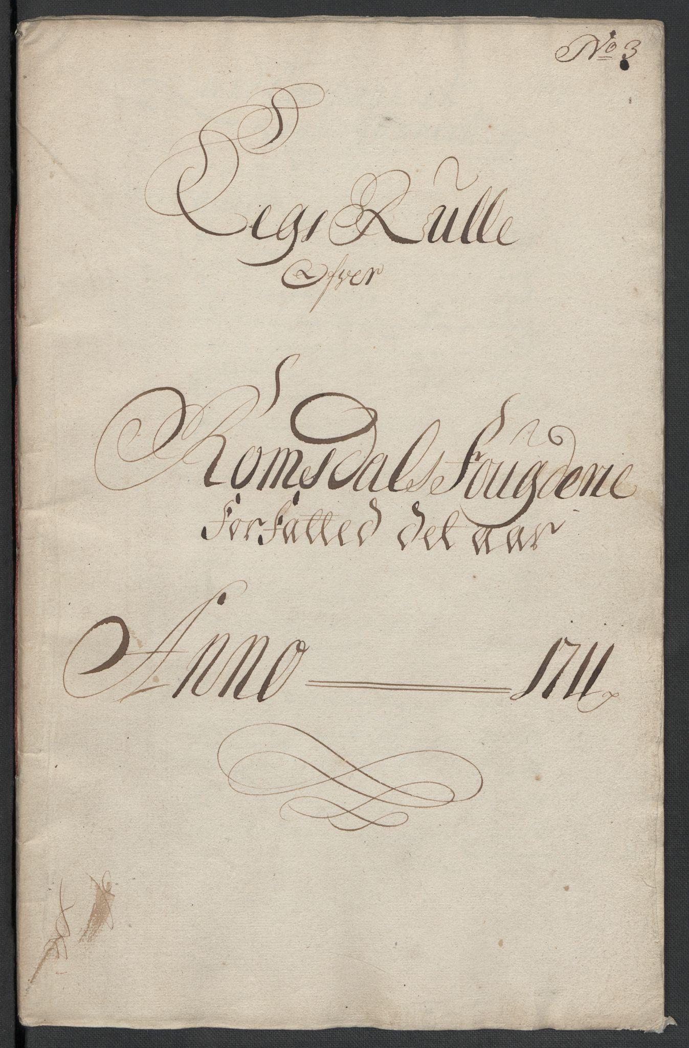 RA, Rentekammeret inntil 1814, Reviderte regnskaper, Fogderegnskap, R55/L3660: Fogderegnskap Romsdal, 1711, s. 82