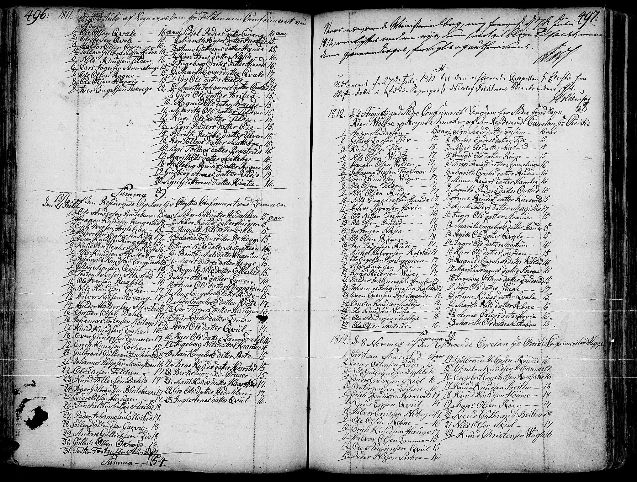 SAH, Slidre prestekontor, Ministerialbok nr. 1, 1724-1814, s. 496-497