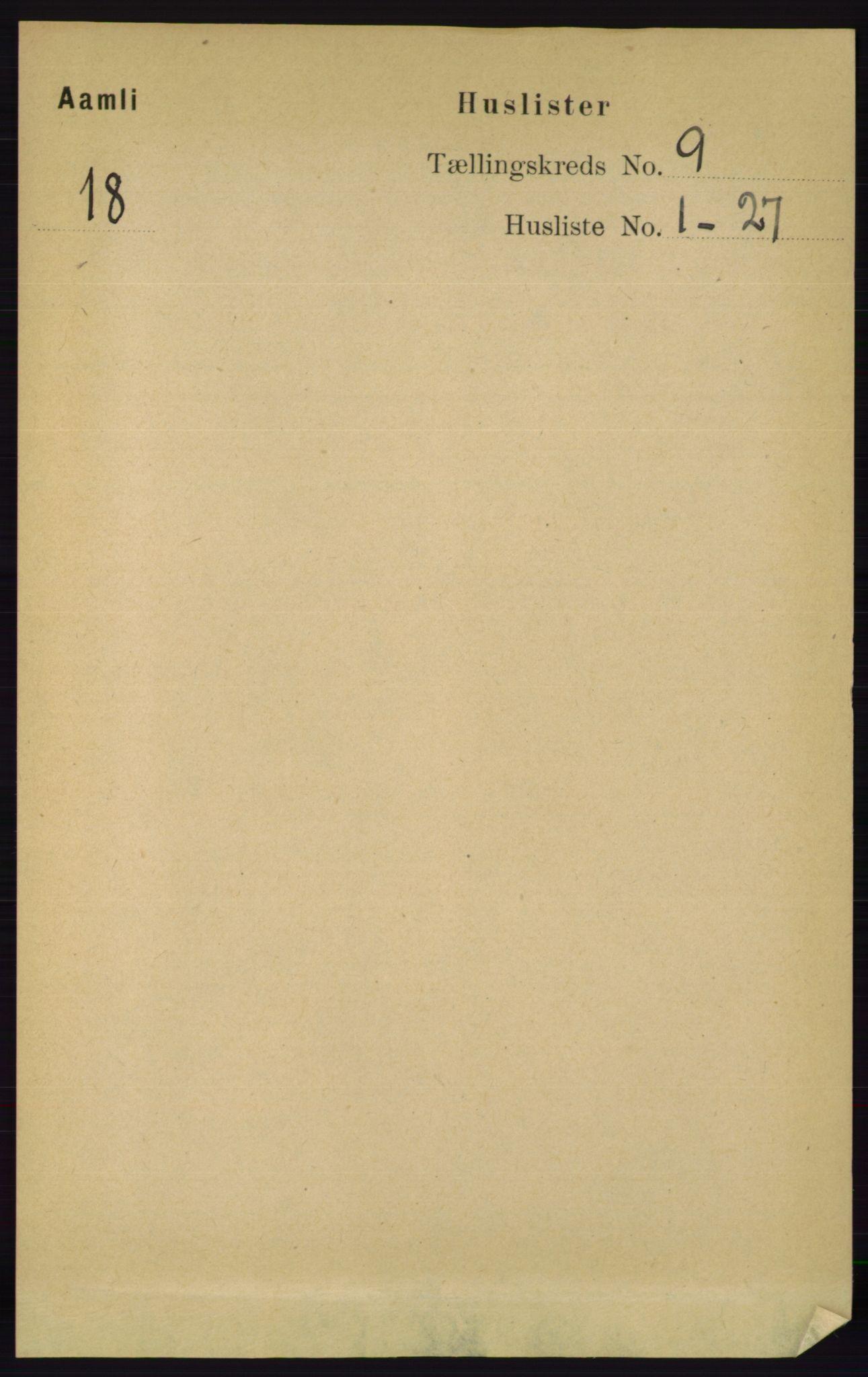 RA, Folketelling 1891 for 0929 Åmli herred, 1891, s. 1426