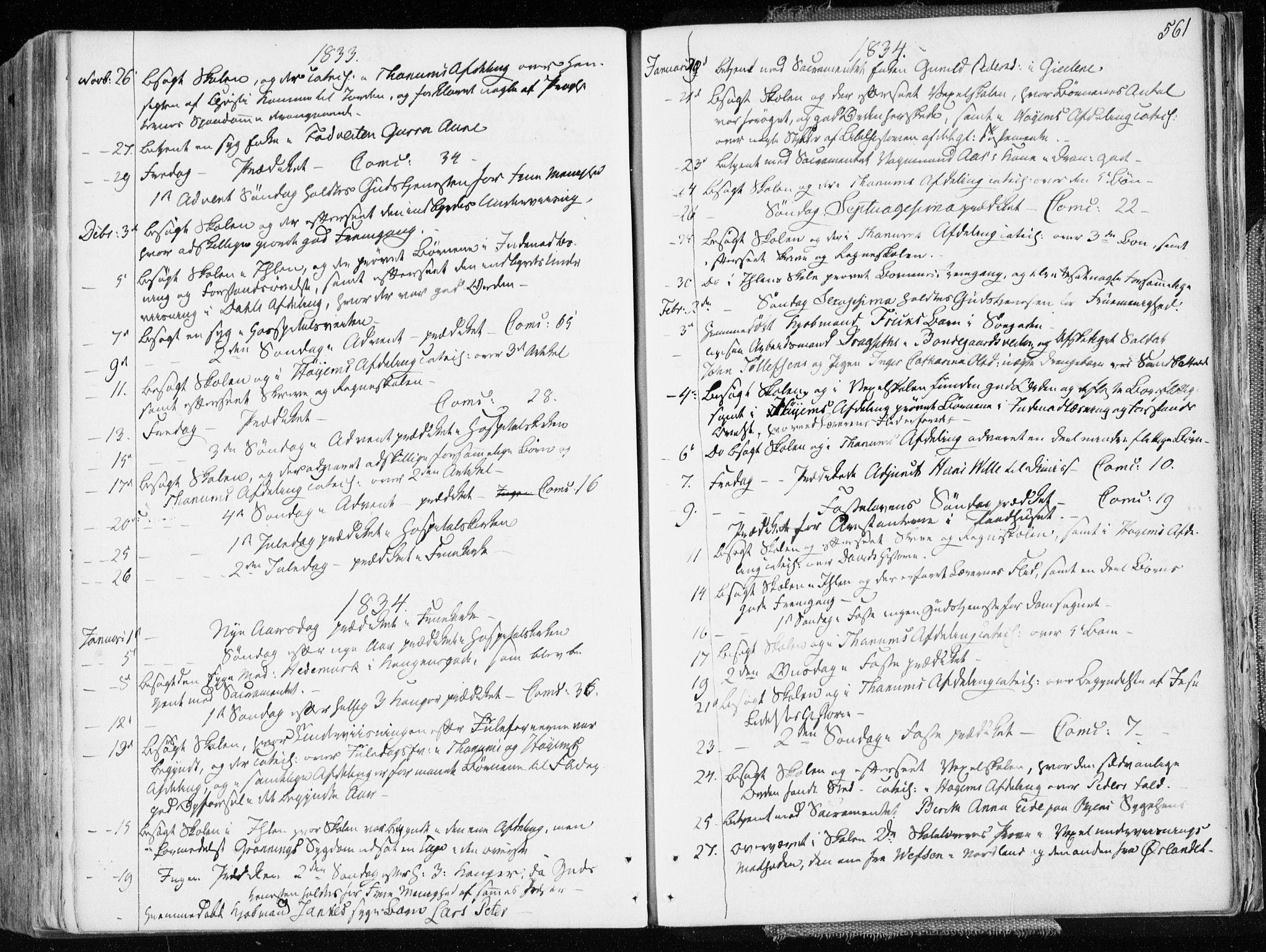 SAT, Ministerialprotokoller, klokkerbøker og fødselsregistre - Sør-Trøndelag, 601/L0047: Ministerialbok nr. 601A15, 1831-1839, s. 561