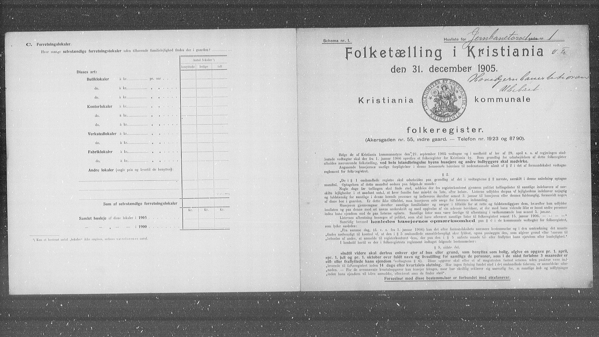 OBA, Kommunal folketelling 1905 for Kristiania kjøpstad, 1905, s. 24589