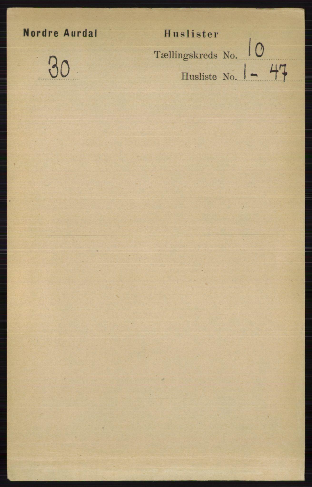 RA, Folketelling 1891 for 0542 Nord-Aurdal herred, 1891, s. 3681