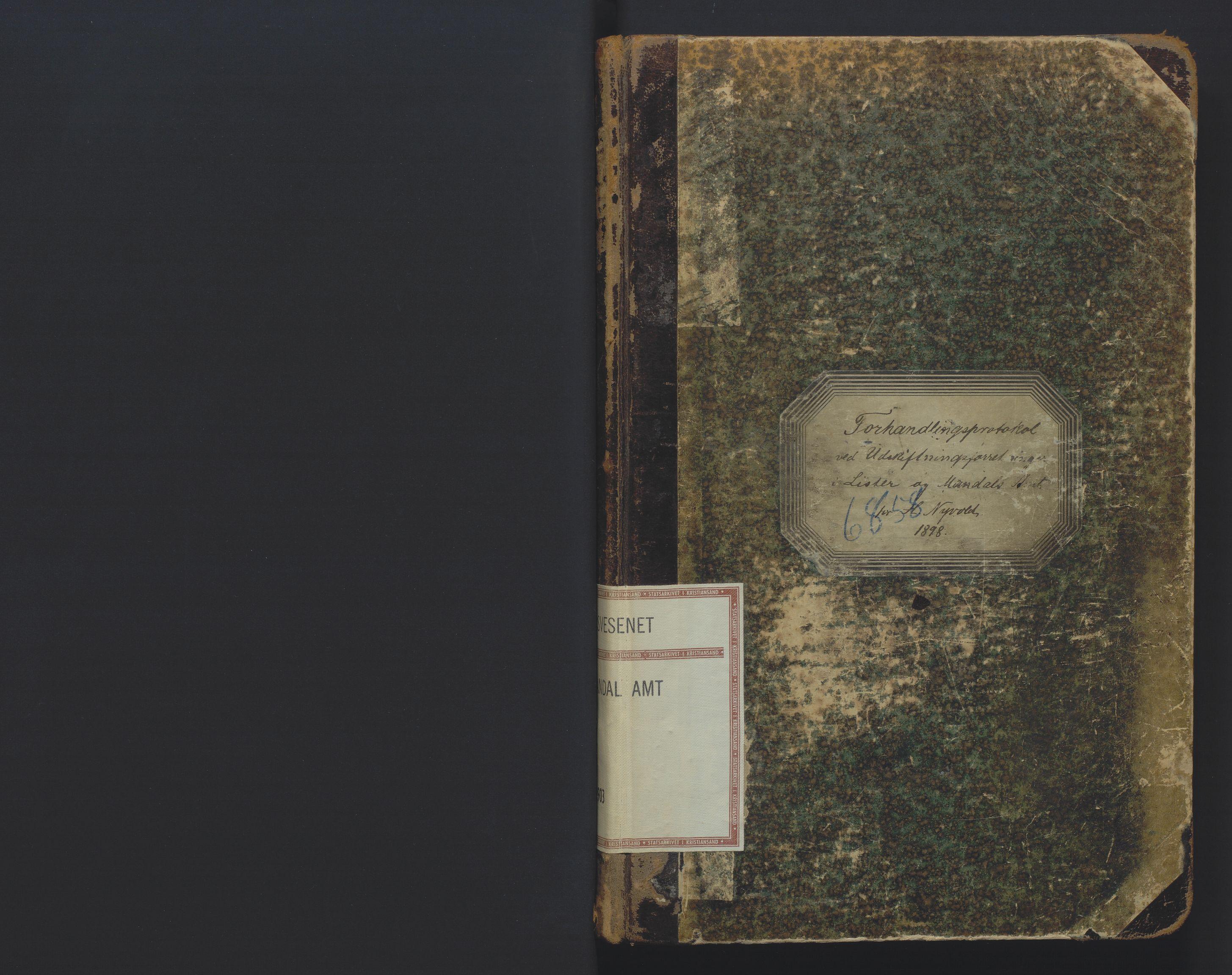 SAK, Utskiftningsformannen i Lister og Mandal amt, F/Fa/Faa/L0022: Utskiftningsprotokoll med register nr 22, 1898-1903