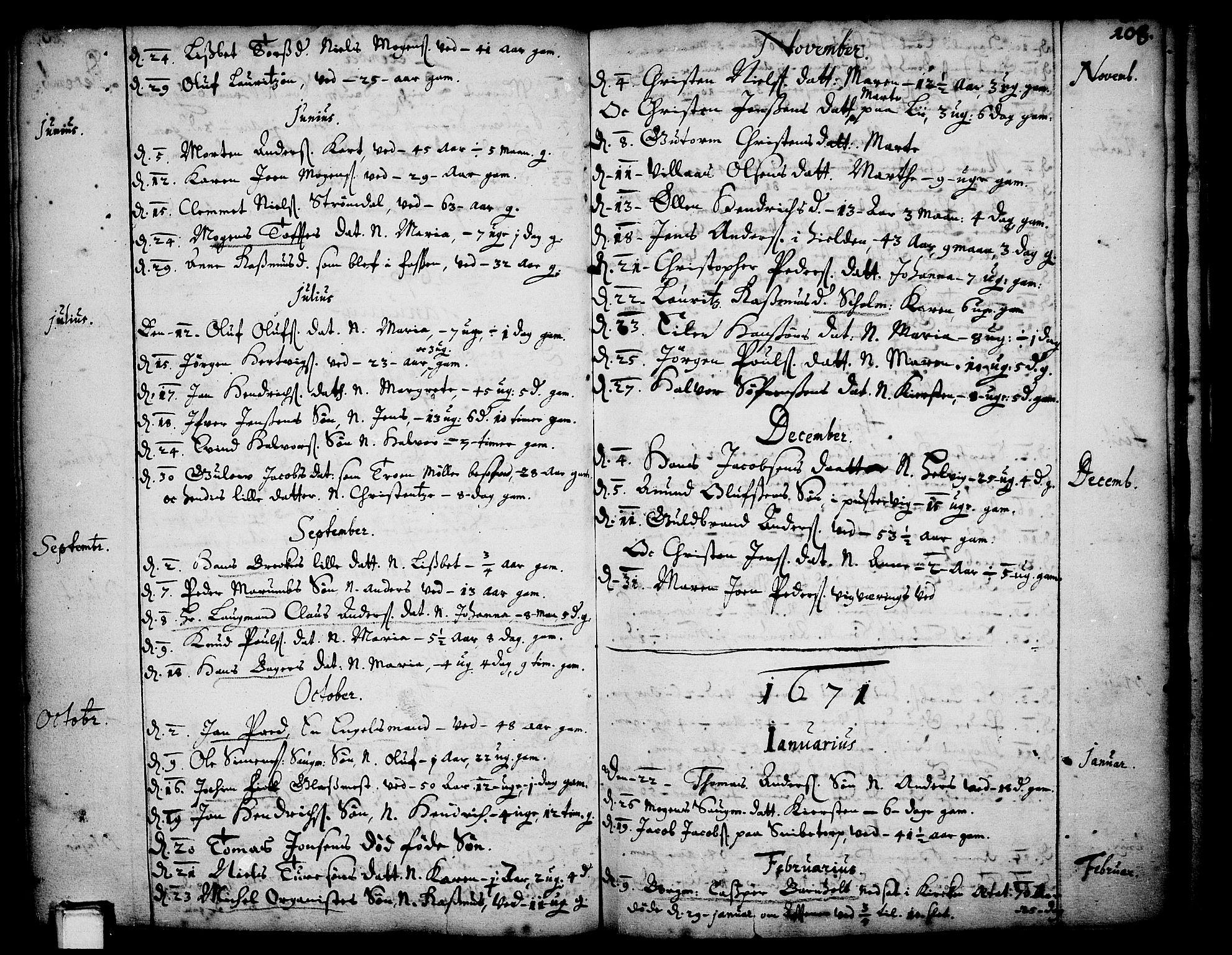 SAKO, Skien kirkebøker, F/Fa/L0001: Ministerialbok nr. 1, 1659-1679, s. 108