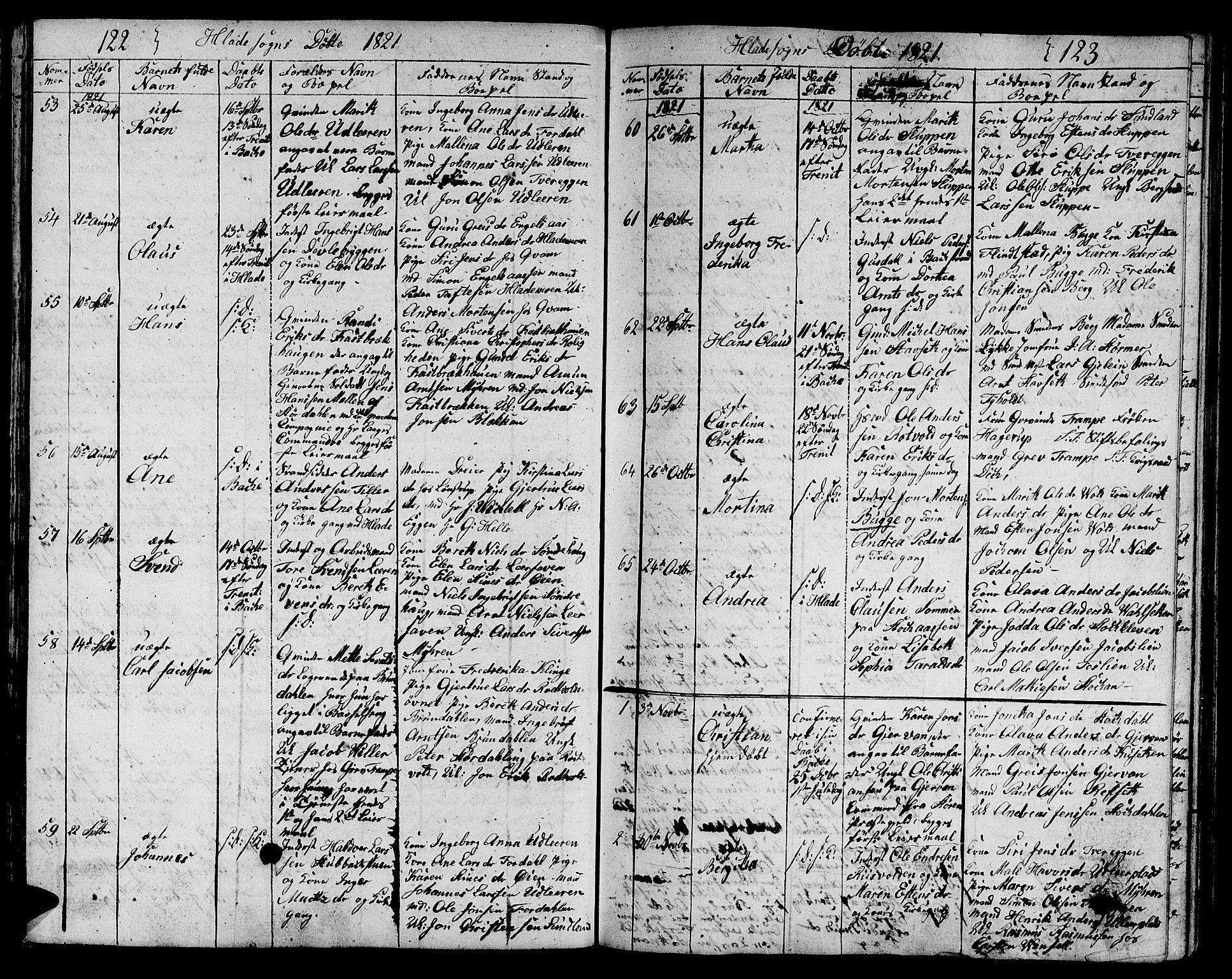 SAT, Ministerialprotokoller, klokkerbøker og fødselsregistre - Sør-Trøndelag, 606/L0306: Klokkerbok nr. 606C02, 1797-1829, s. 122-123