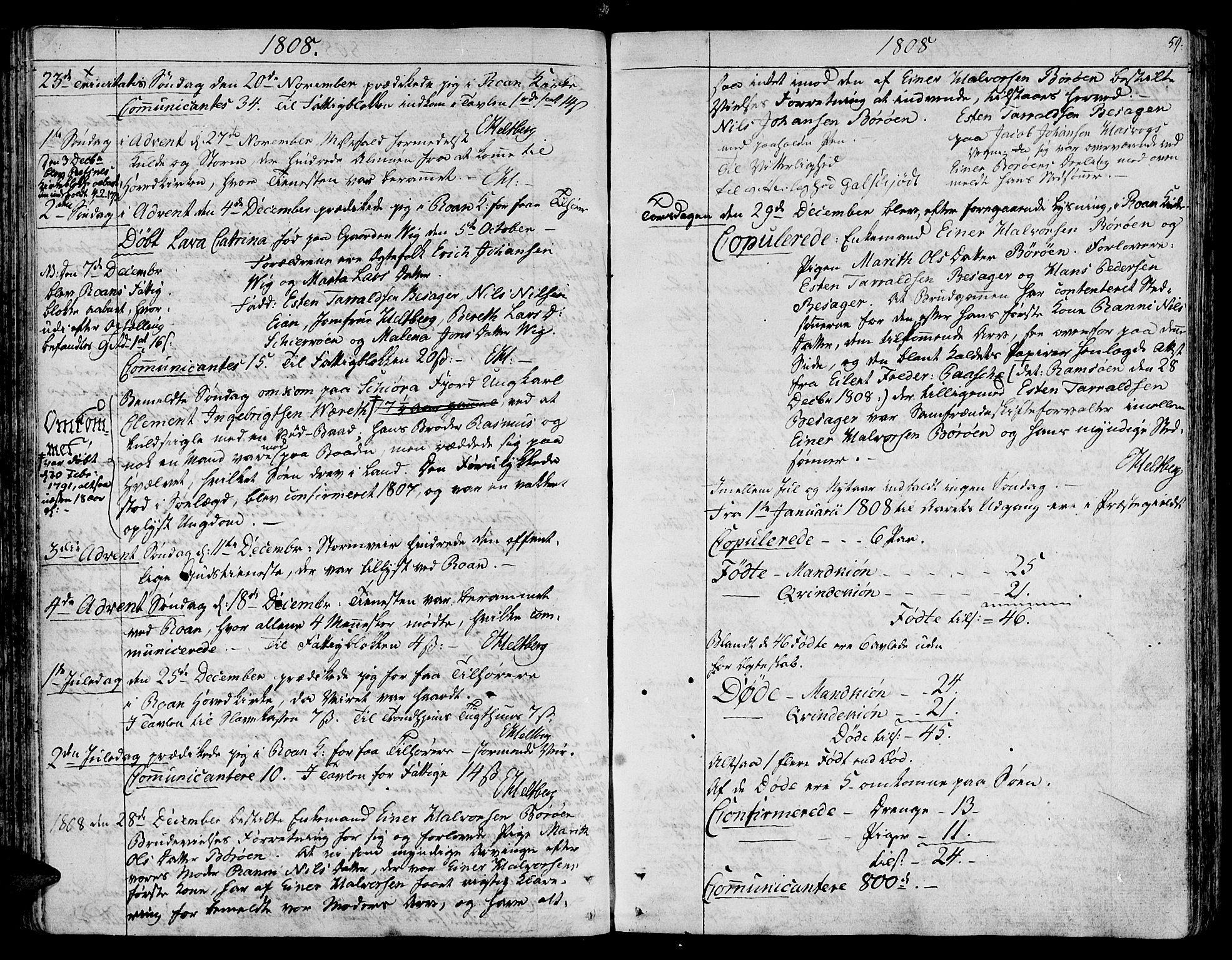 SAT, Ministerialprotokoller, klokkerbøker og fødselsregistre - Sør-Trøndelag, 657/L0701: Ministerialbok nr. 657A02, 1802-1831, s. 59