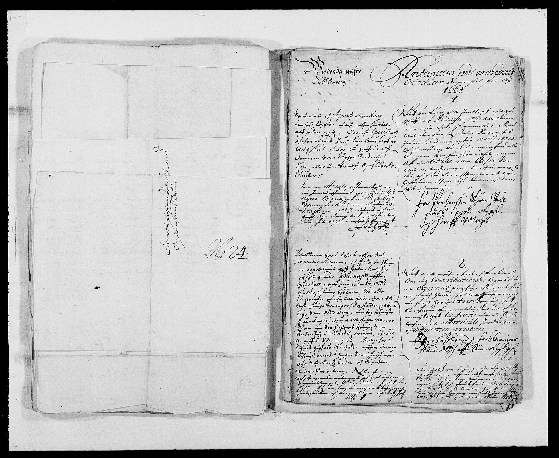 RA, Rentekammeret inntil 1814, Reviderte regnskaper, Fogderegnskap, R42/L2537: Mandal fogderi, 1664-1666, s. 84