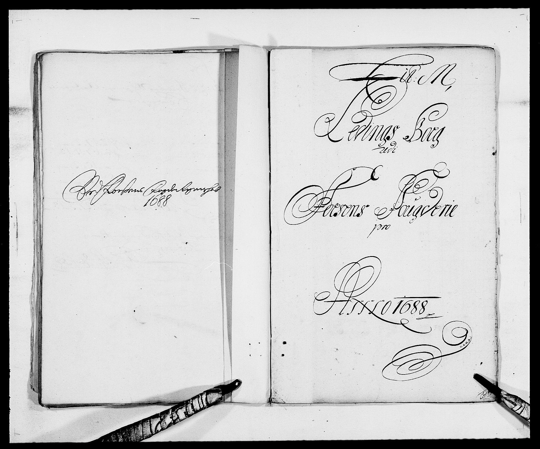 RA, Rentekammeret inntil 1814, Reviderte regnskaper, Fogderegnskap, R57/L3846: Fogderegnskap Fosen, 1688, s. 138
