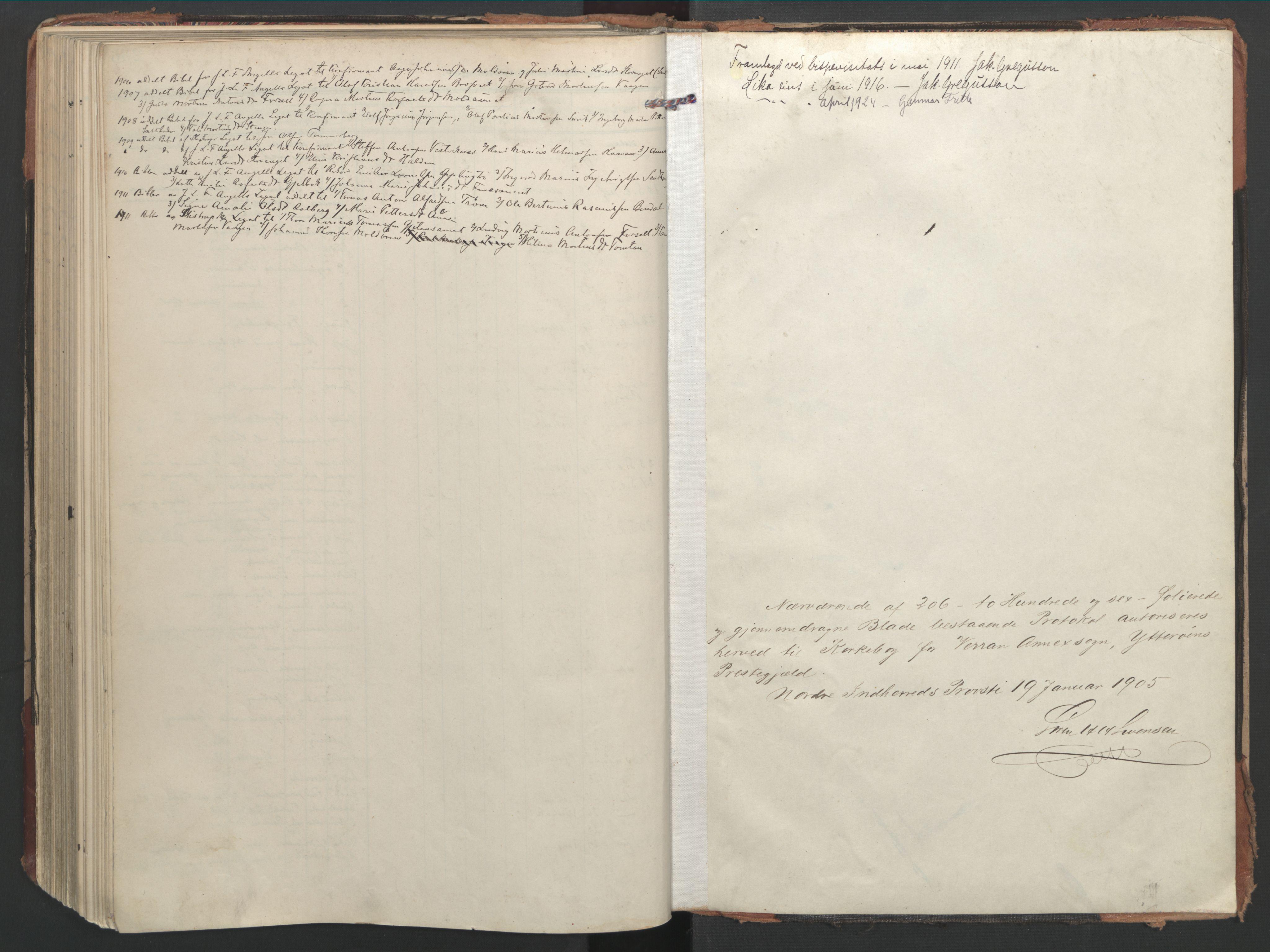 SAT, Ministerialprotokoller, klokkerbøker og fødselsregistre - Nord-Trøndelag, 744/L0421: Ministerialbok nr. 744A05, 1905-1930