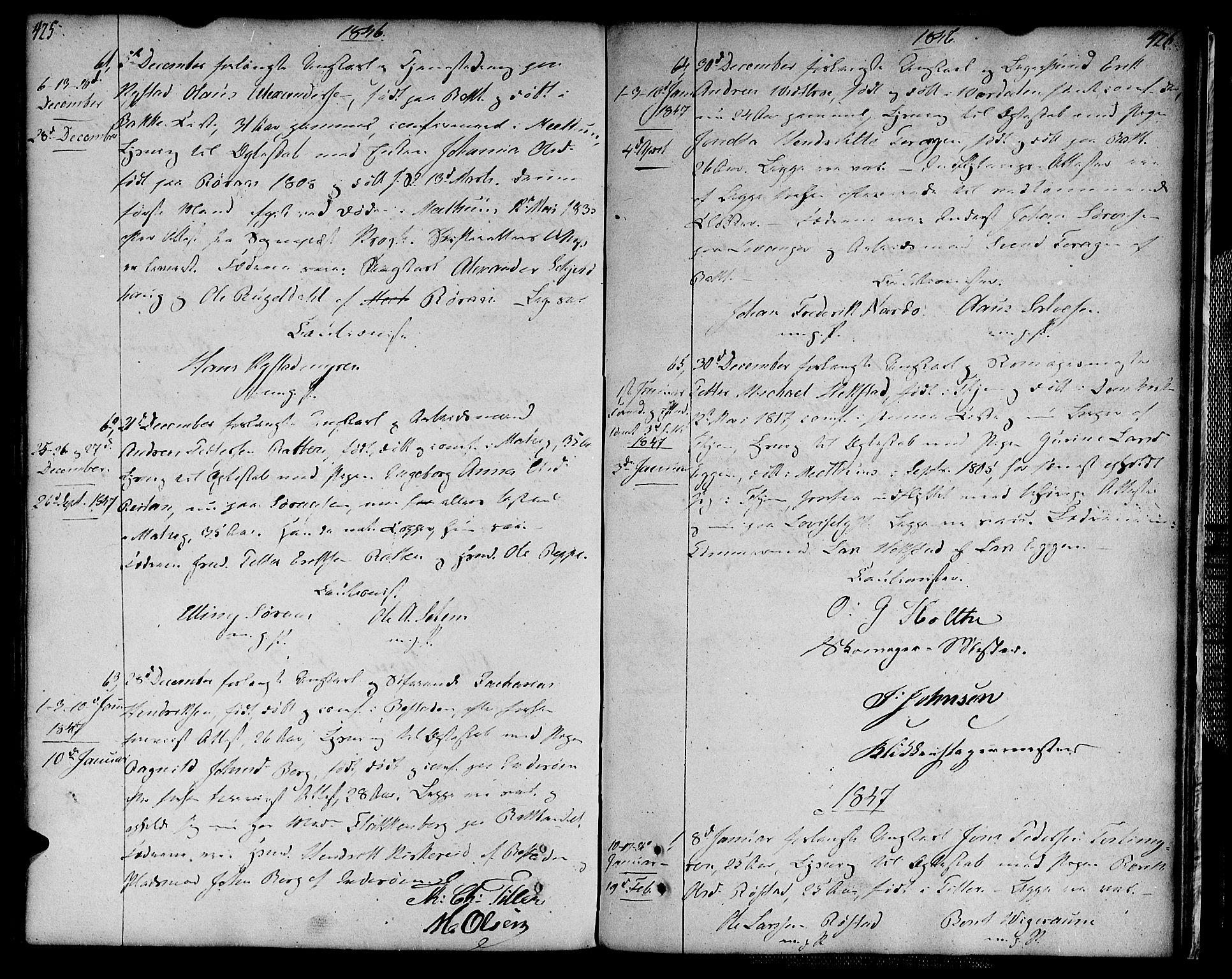 SAT, Ministerialprotokoller, klokkerbøker og fødselsregistre - Sør-Trøndelag, 604/L0181: Ministerialbok nr. 604A02, 1798-1817, s. 425-426