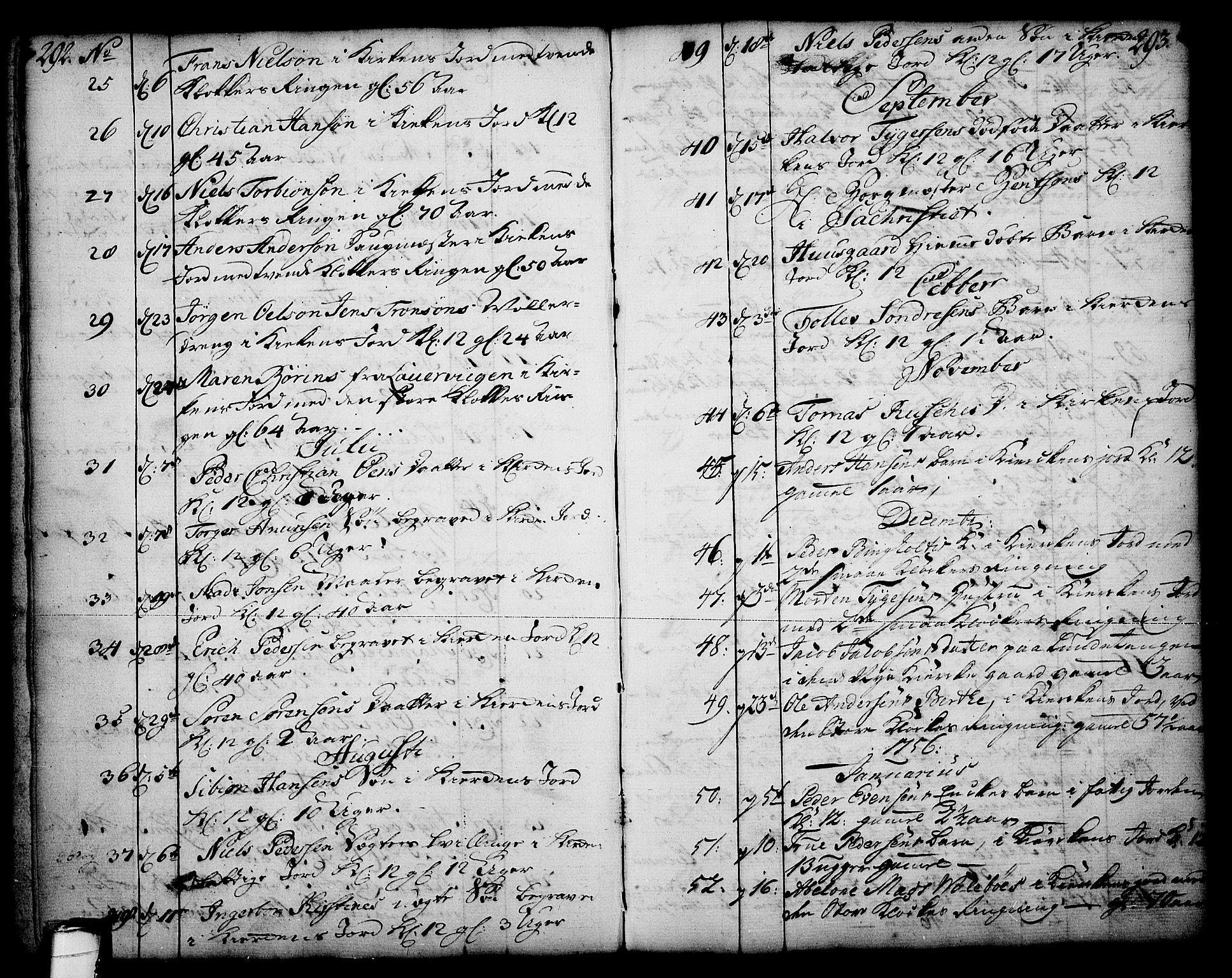 SAKO, Skien kirkebøker, F/Fa/L0003: Ministerialbok nr. 3, 1755-1791, s. 292-293