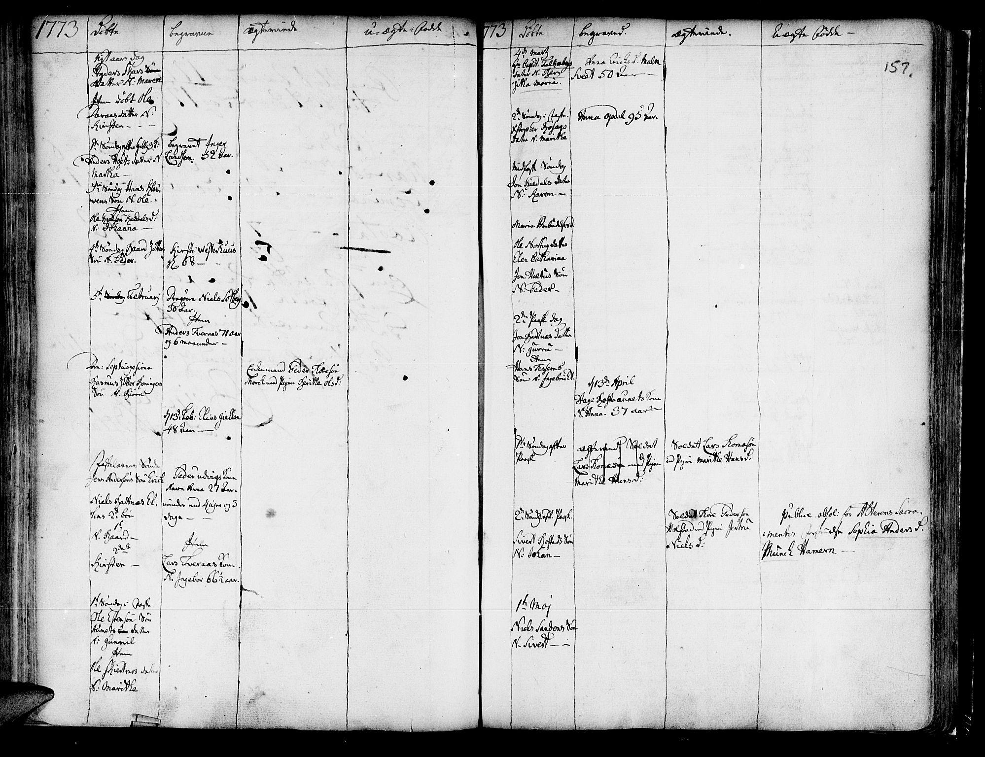 SAT, Ministerialprotokoller, klokkerbøker og fødselsregistre - Nord-Trøndelag, 741/L0385: Ministerialbok nr. 741A01, 1722-1815, s. 157
