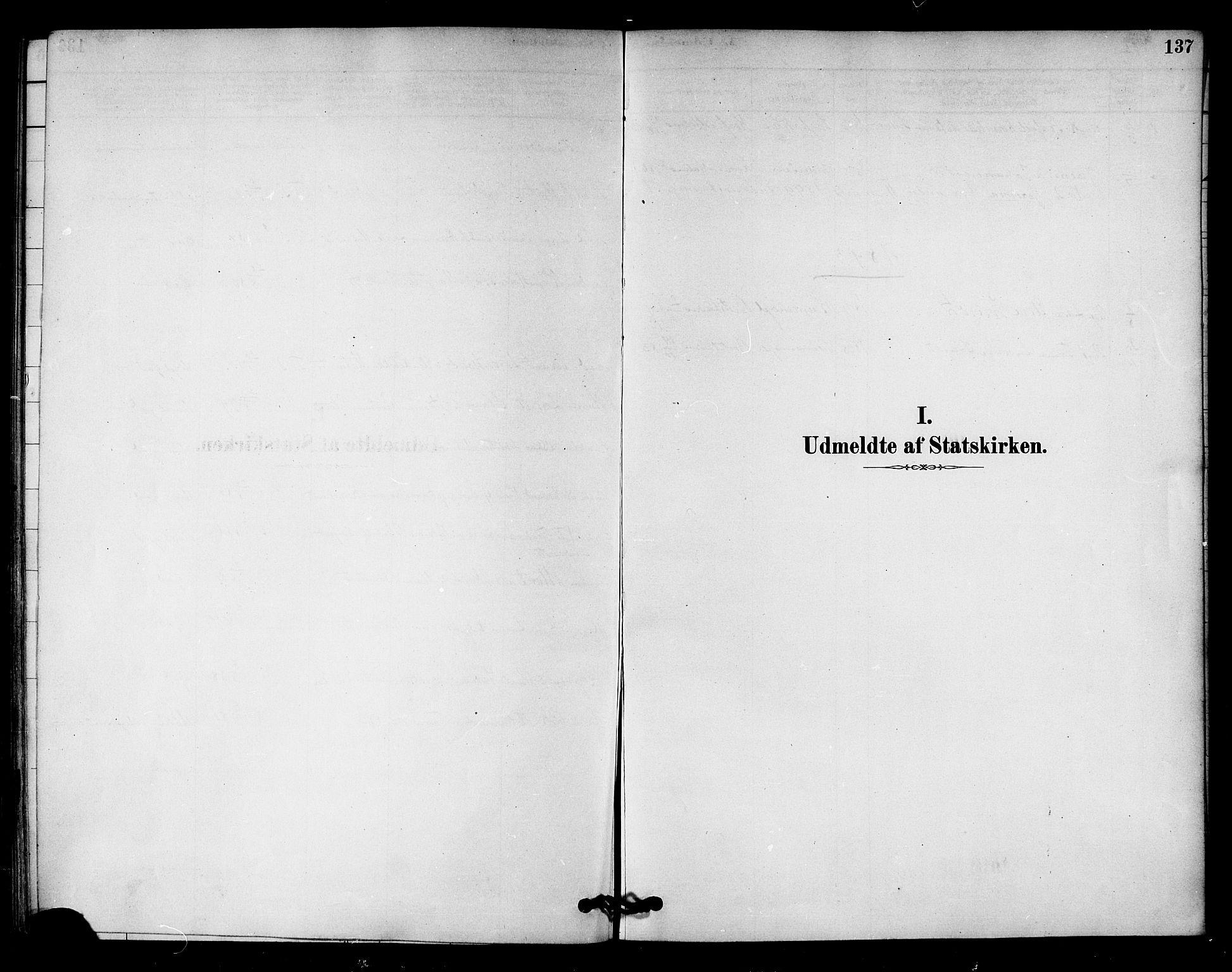 SAT, Ministerialprotokoller, klokkerbøker og fødselsregistre - Nord-Trøndelag, 745/L0429: Ministerialbok nr. 745A01, 1878-1894, s. 137