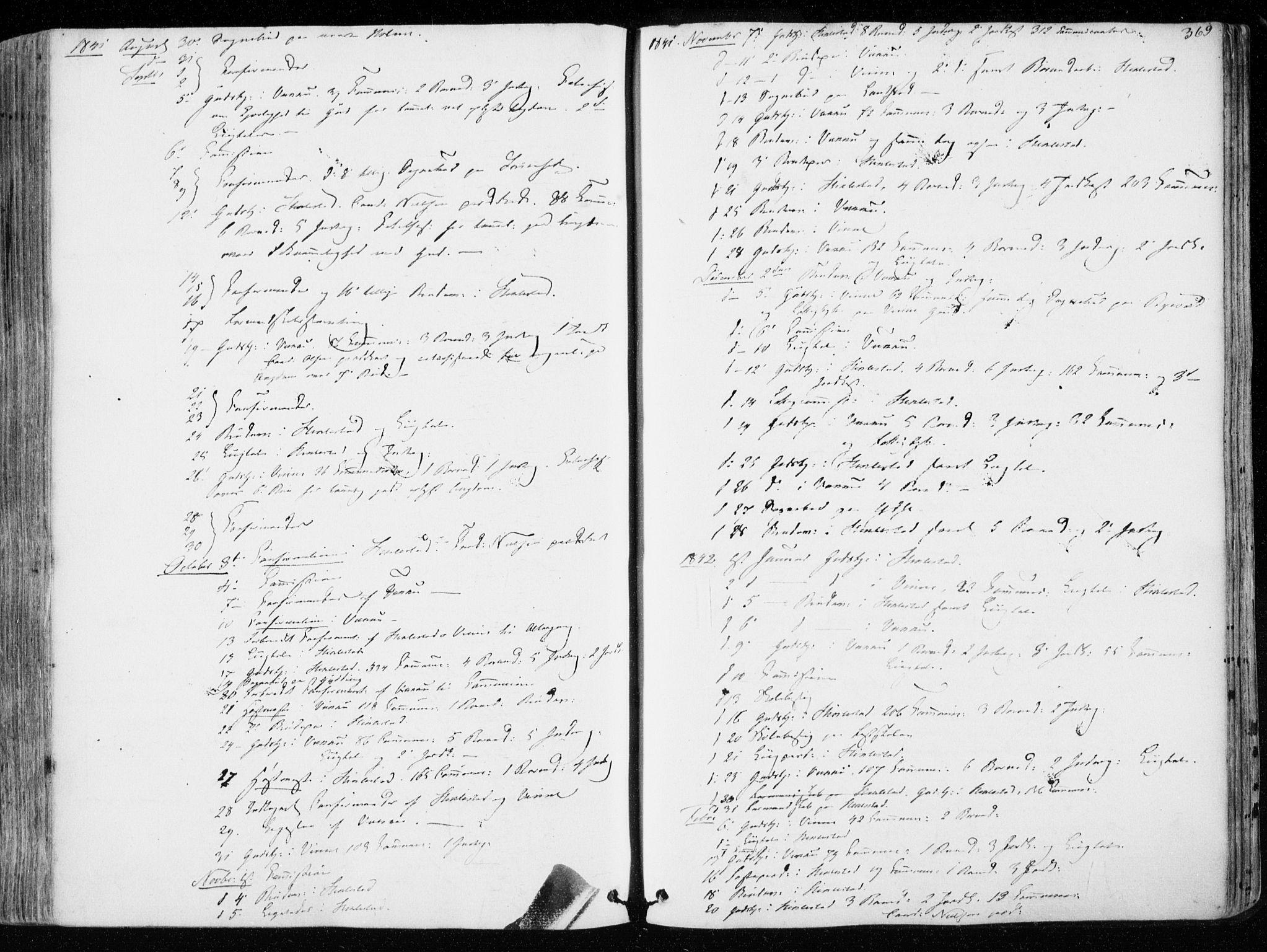 SAT, Ministerialprotokoller, klokkerbøker og fødselsregistre - Nord-Trøndelag, 723/L0239: Ministerialbok nr. 723A08, 1841-1851, s. 369