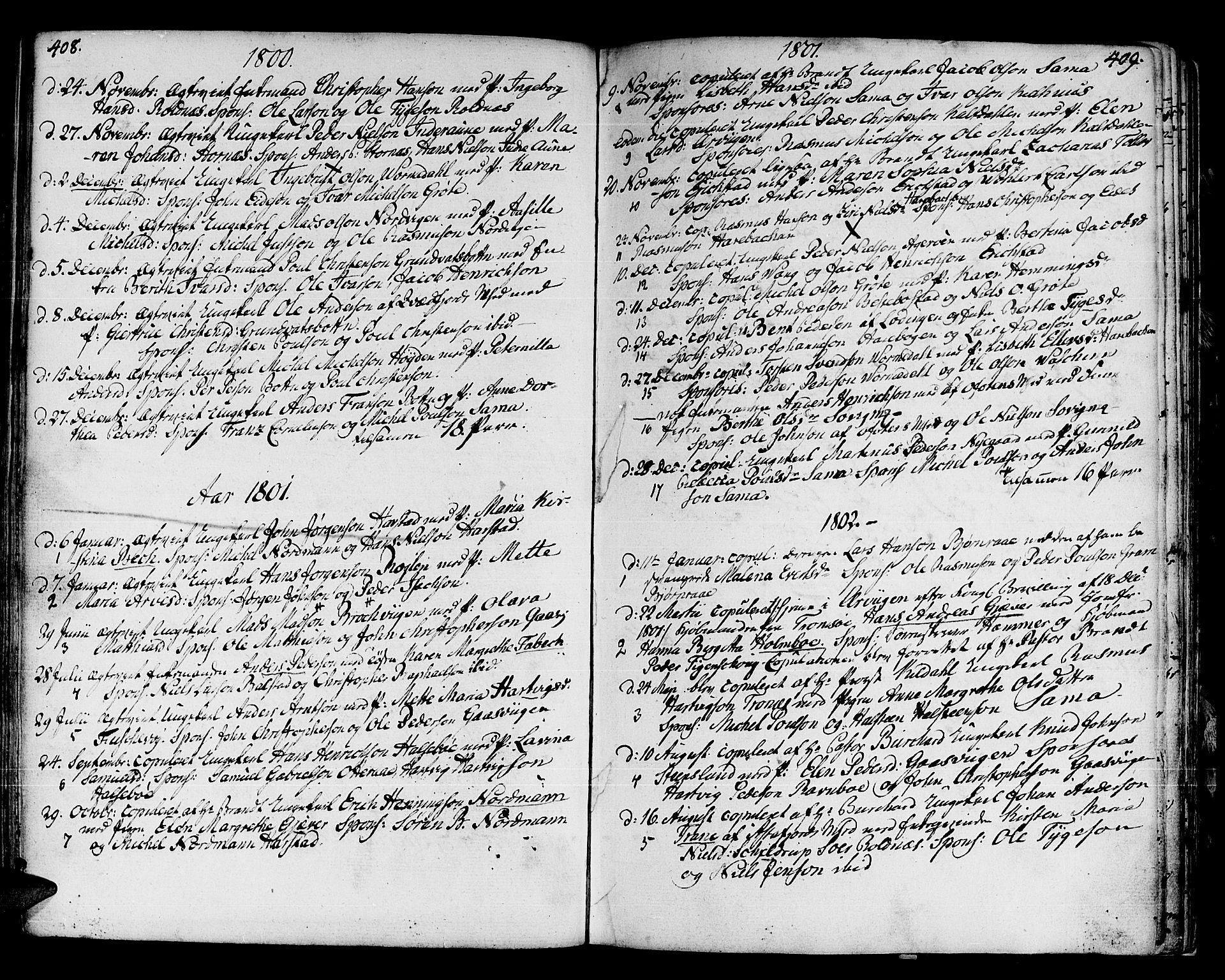 SATØ, Trondenes sokneprestkontor, H/Ha/L0003kirke: Ministerialbok nr. 3, 1783-1803, s. 408-409