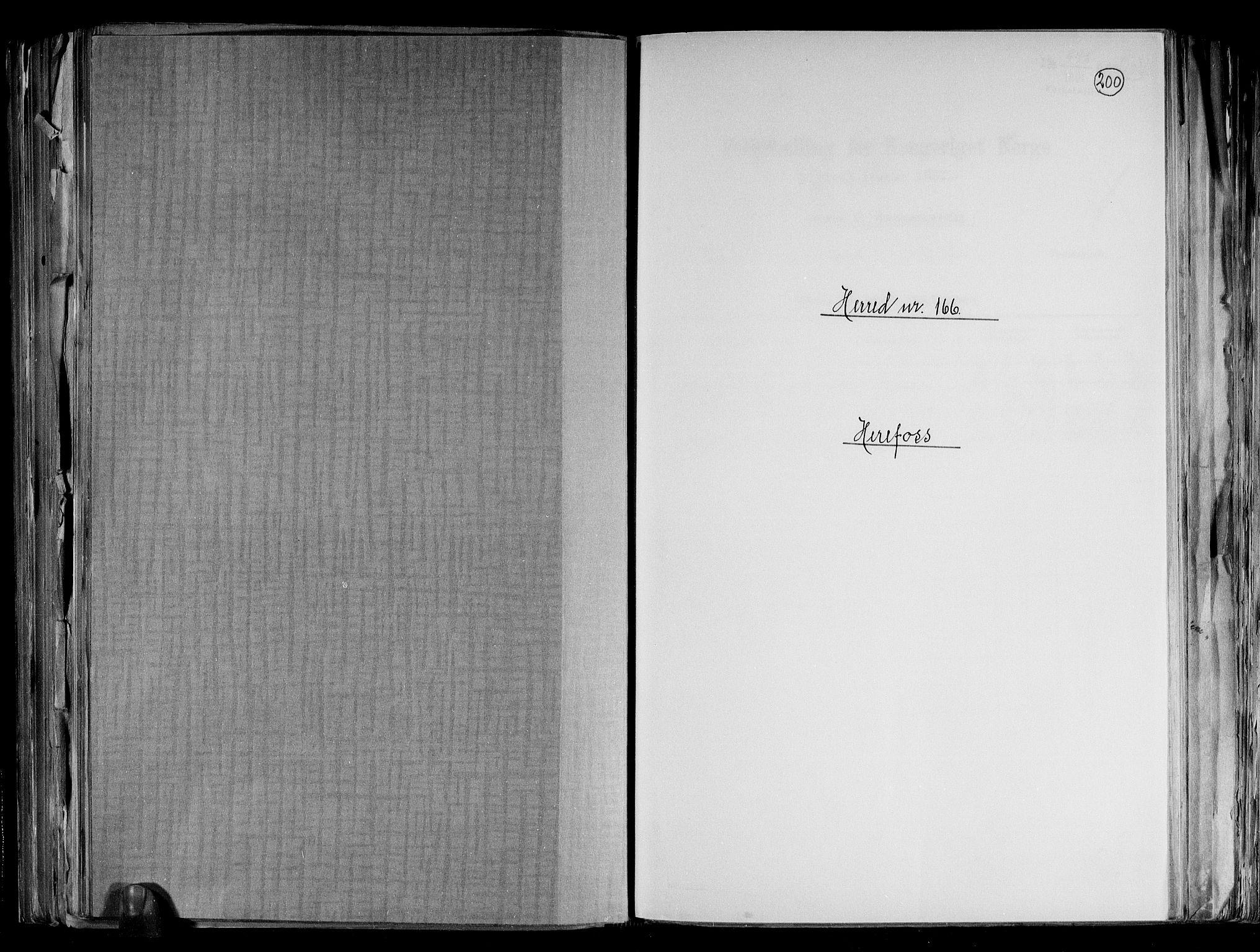 RA, Folketelling 1891 for 0933 Herefoss herred, 1891, s. 1