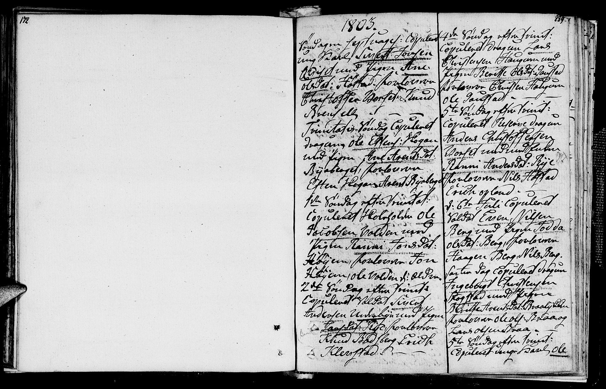 SAT, Ministerialprotokoller, klokkerbøker og fødselsregistre - Sør-Trøndelag, 612/L0371: Ministerialbok nr. 612A05, 1803-1816, s. 172-239
