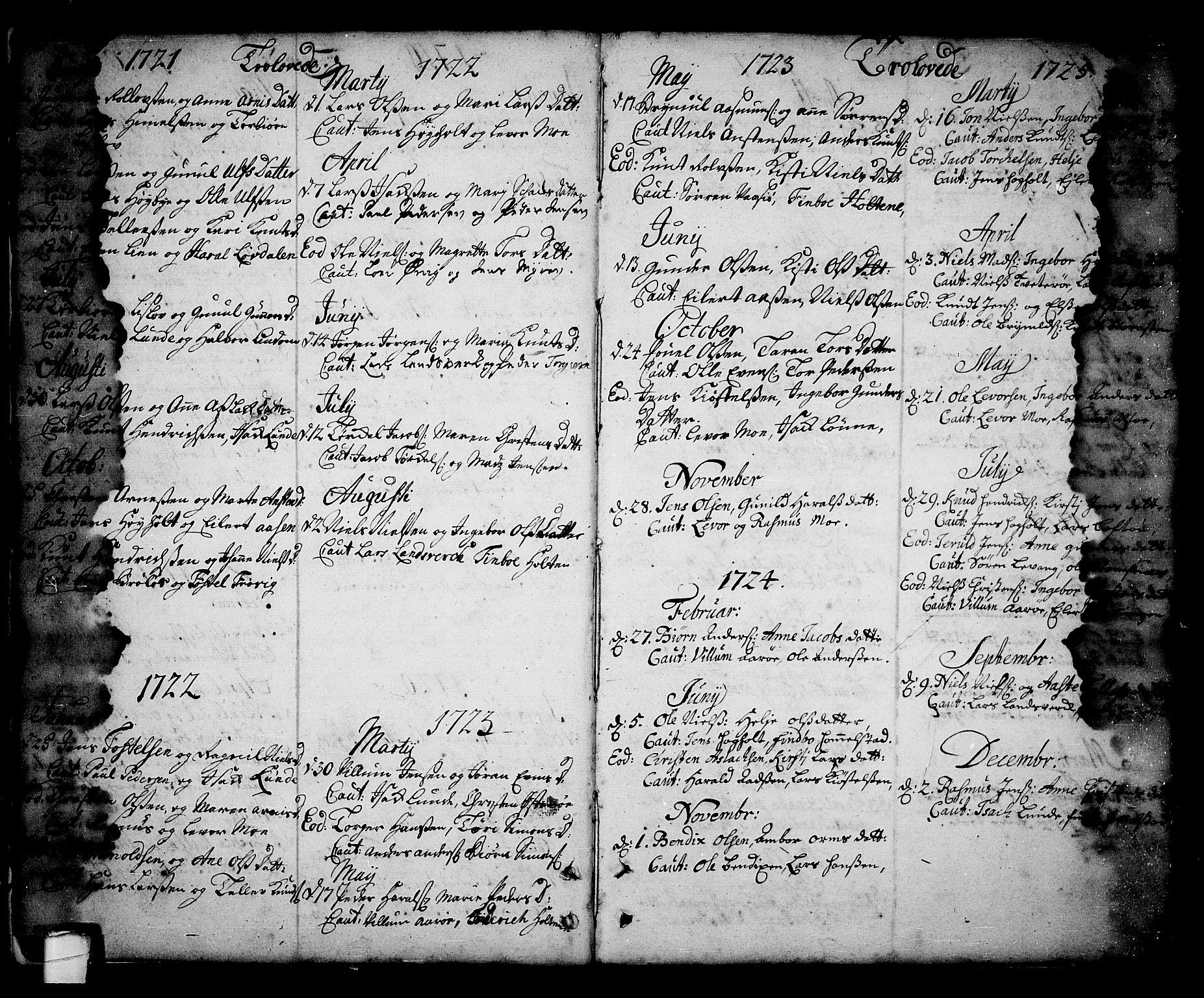SAKO, Sannidal kirkebøker, F/Fa/L0001: Ministerialbok nr. 1, 1702-1766, s. 6-7