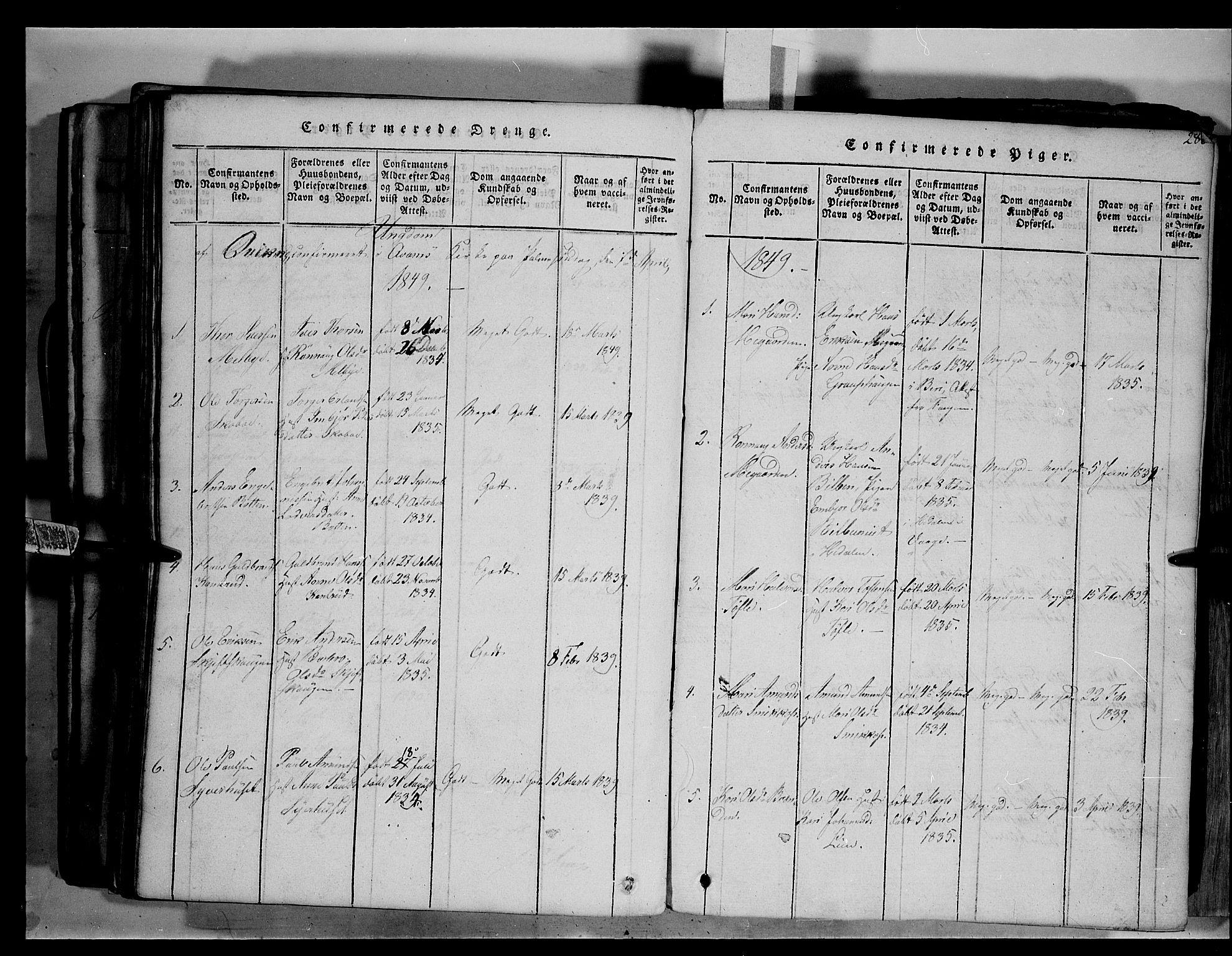 SAH, Fron prestekontor, H/Ha/Hab/L0003: Klokkerbok nr. 3, 1816-1850, s. 286