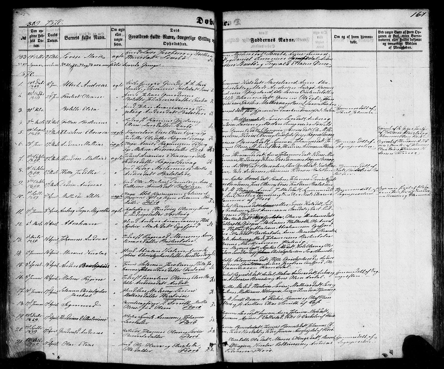 SAB, Kinn sokneprestembete, H/Haa/Haaa/L0006: Ministerialbok nr. A 6, 1857-1885, s. 161