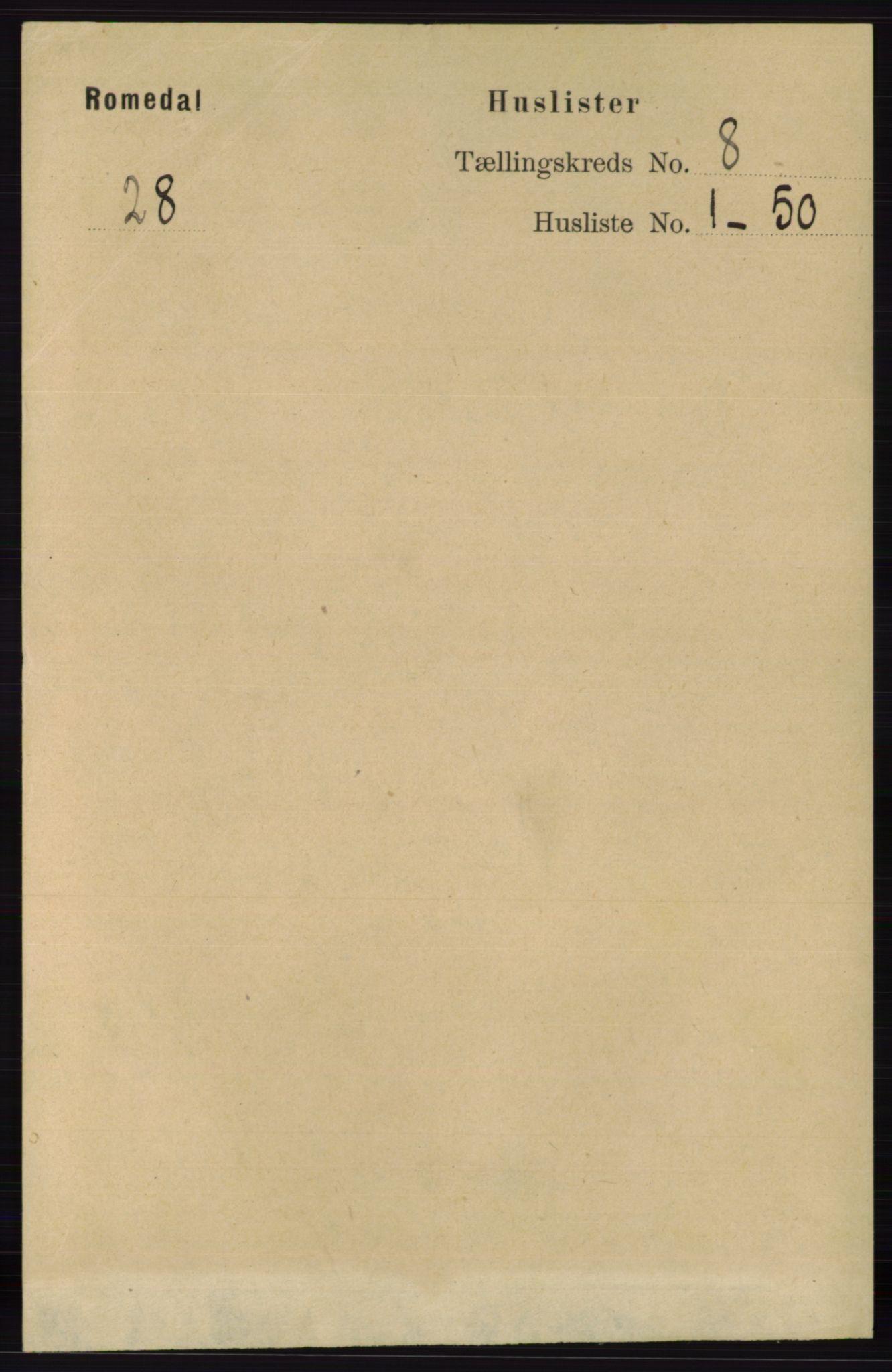 RA, Folketelling 1891 for 0416 Romedal herred, 1891, s. 3908