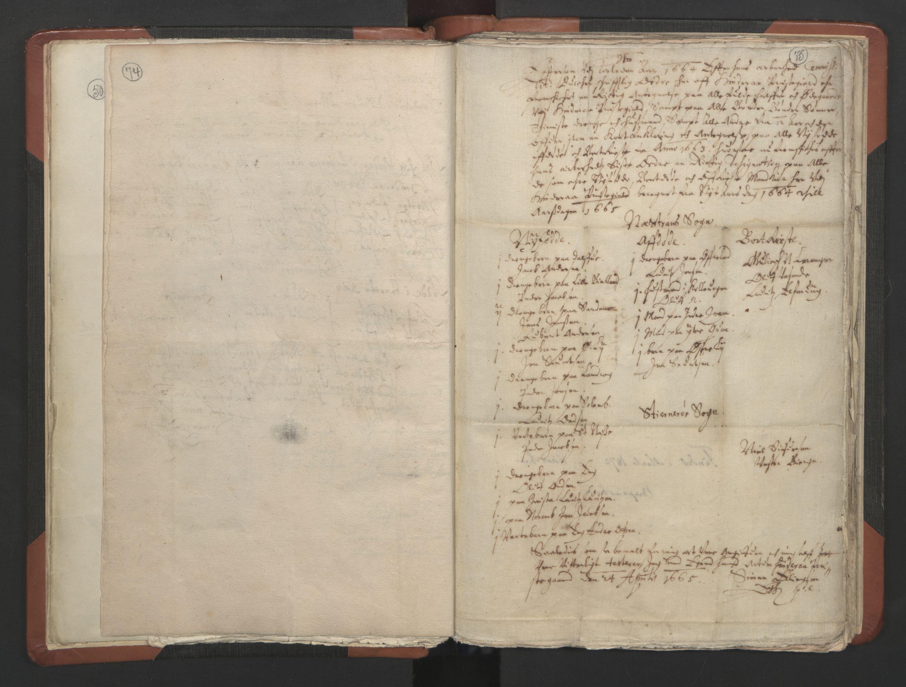RA, Sogneprestenes manntall 1664-1666, nr. 19: Ryfylke prosti, 1664-1666, s. 74-75