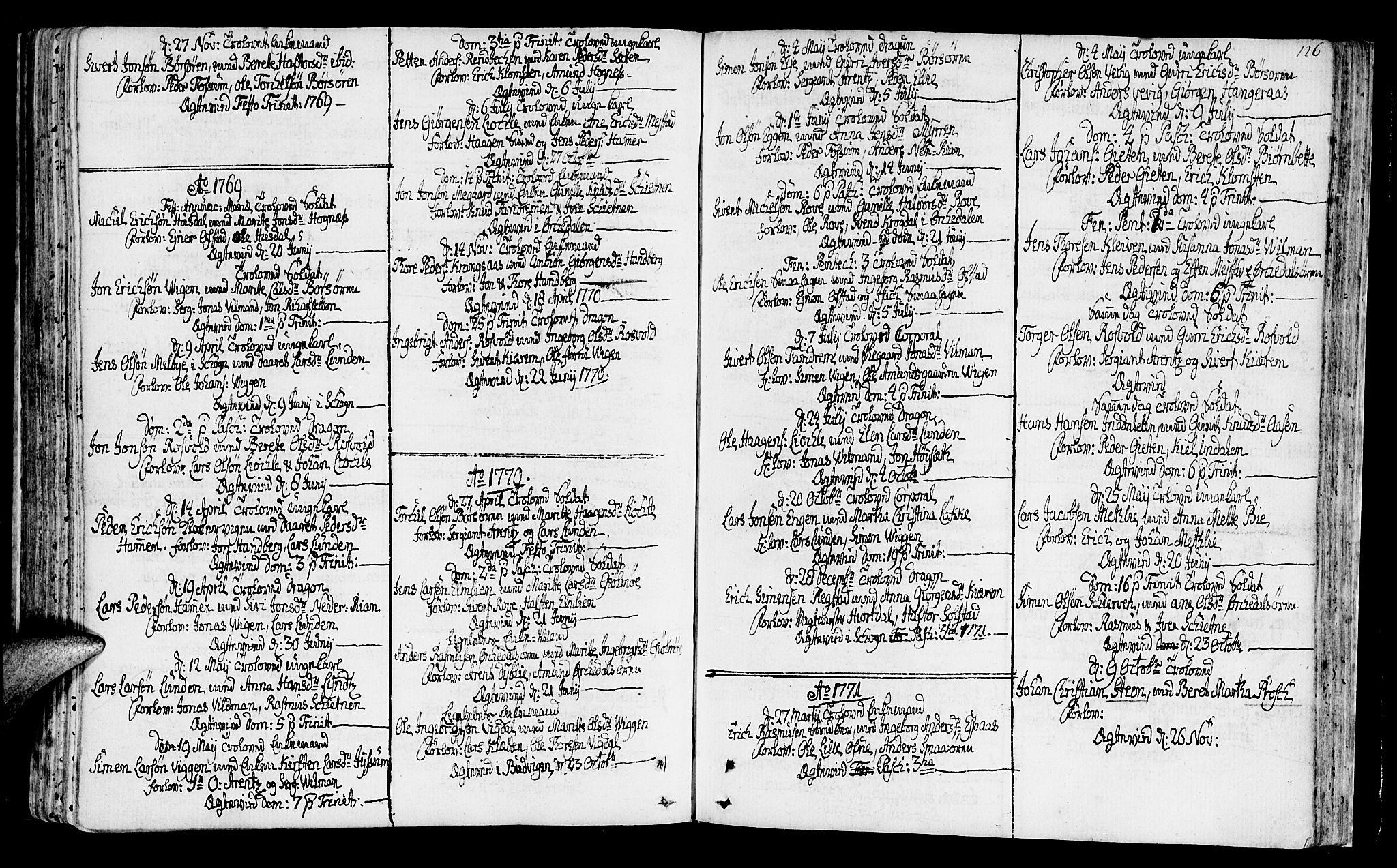 SAT, Ministerialprotokoller, klokkerbøker og fødselsregistre - Sør-Trøndelag, 665/L0768: Ministerialbok nr. 665A03, 1754-1803, s. 126