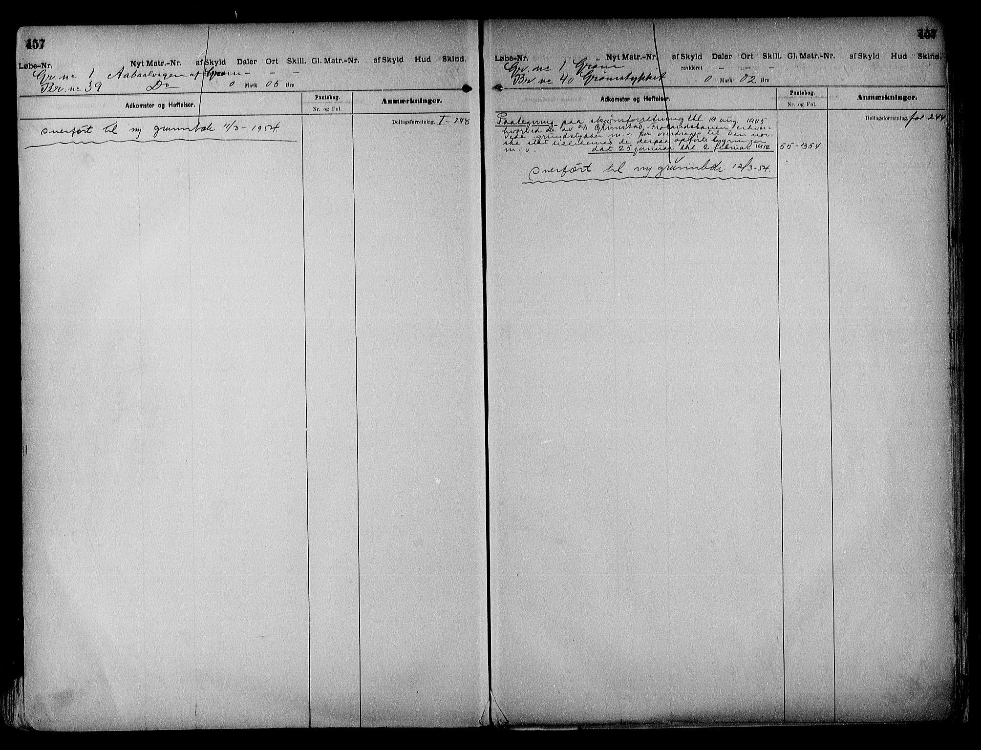 SAK, Vestre Nedenes/Sand sorenskriveri, G/Ga/L0018: Panteregister nr. 13b, 1872-1956, s. 457