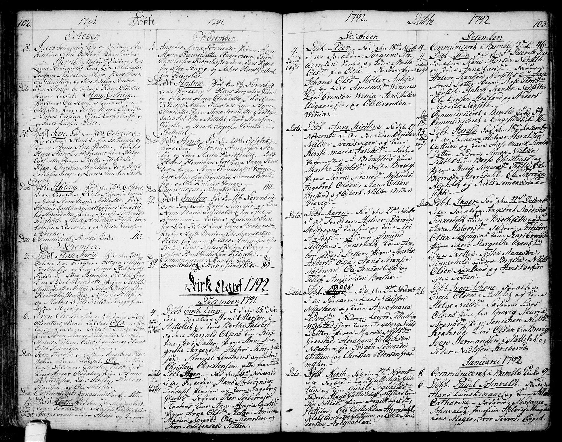 SAKO, Bamble kirkebøker, F/Fa/L0002: Ministerialbok nr. I 2, 1775-1814, s. 102-103