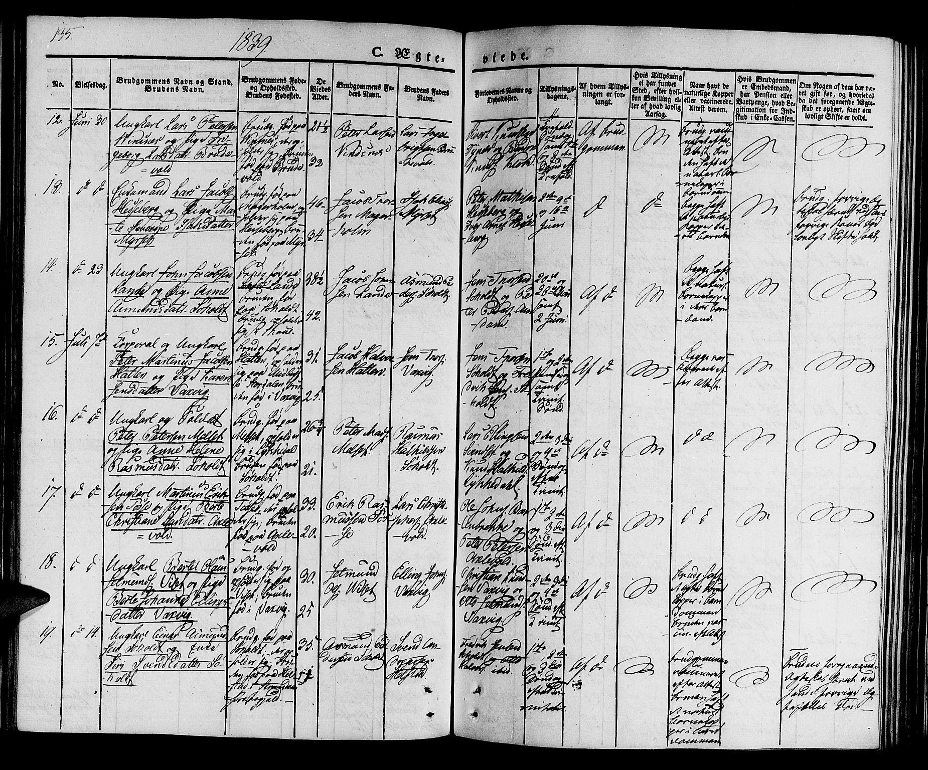 SAT, Ministerialprotokoller, klokkerbøker og fødselsregistre - Møre og Romsdal, 522/L0311: Ministerialbok nr. 522A06, 1832-1842, s. 135
