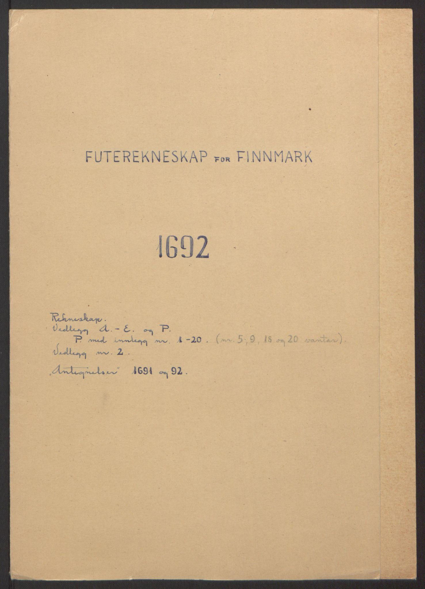 RA, Rentekammeret inntil 1814, Reviderte regnskaper, Fogderegnskap, R69/L4851: Fogderegnskap Finnmark/Vardøhus, 1691-1700, s. 132