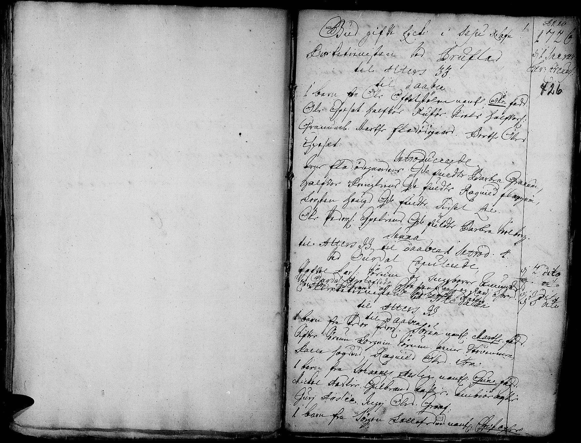 SAH, Aurdal prestekontor, Ministerialbok nr. 1-3, 1692-1730, s. 726