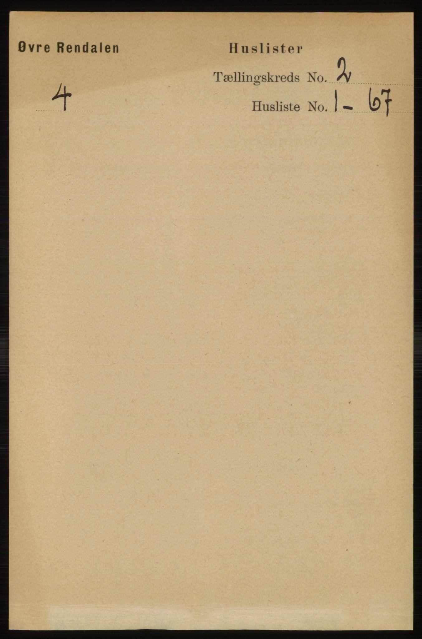 RA, Folketelling 1891 for 0433 Øvre Rendal herred, 1891, s. 333