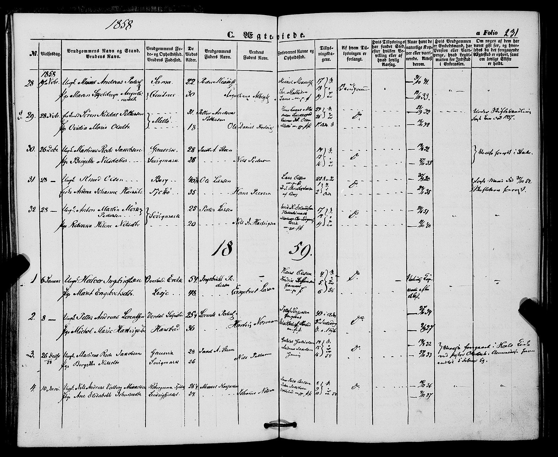 SATØ, Trondenes sokneprestkontor, H/Ha/L0011kirke: Ministerialbok nr. 11, 1853-1862, s. 231