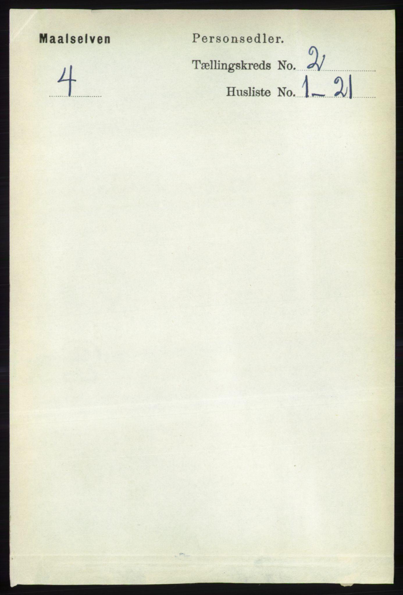 RA, Folketelling 1891 for 1924 Målselv herred, 1891, s. 299