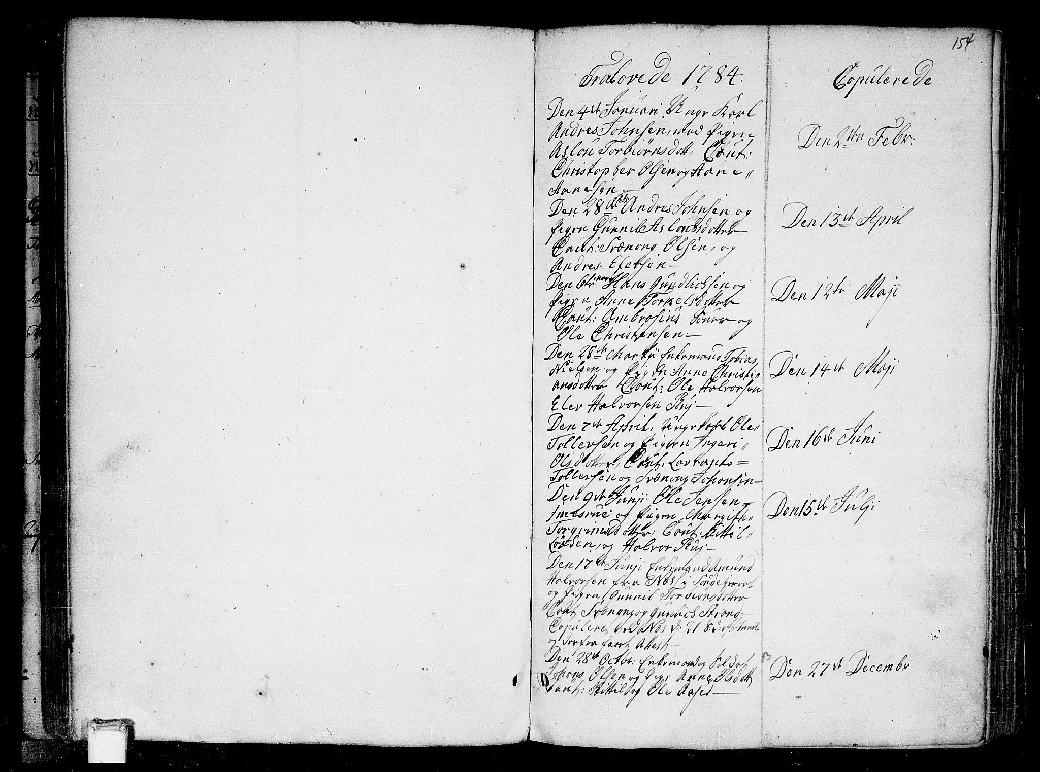 SAKO, Heddal kirkebøker, F/Fa/L0004: Ministerialbok nr. I 4, 1784-1814, s. 154