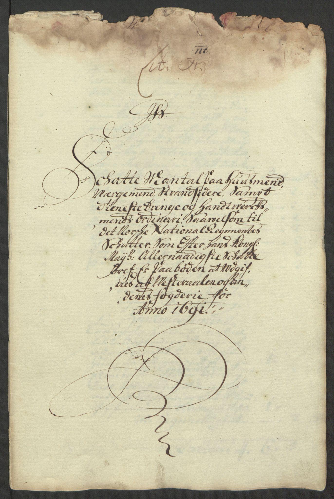 RA, Rentekammeret inntil 1814, Reviderte regnskaper, Fogderegnskap, R67/L4676: Fogderegnskap Vesterålen, Andenes og Lofoten, 1691-1693, s. 8
