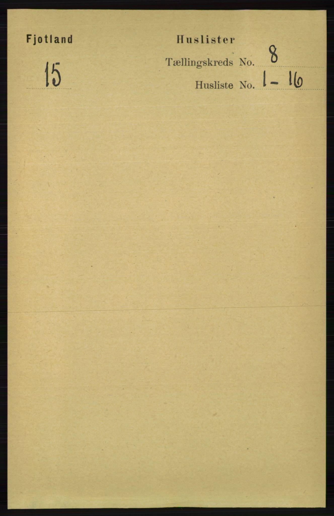 RA, Folketelling 1891 for 1036 Fjotland herred, 1891, s. 1170