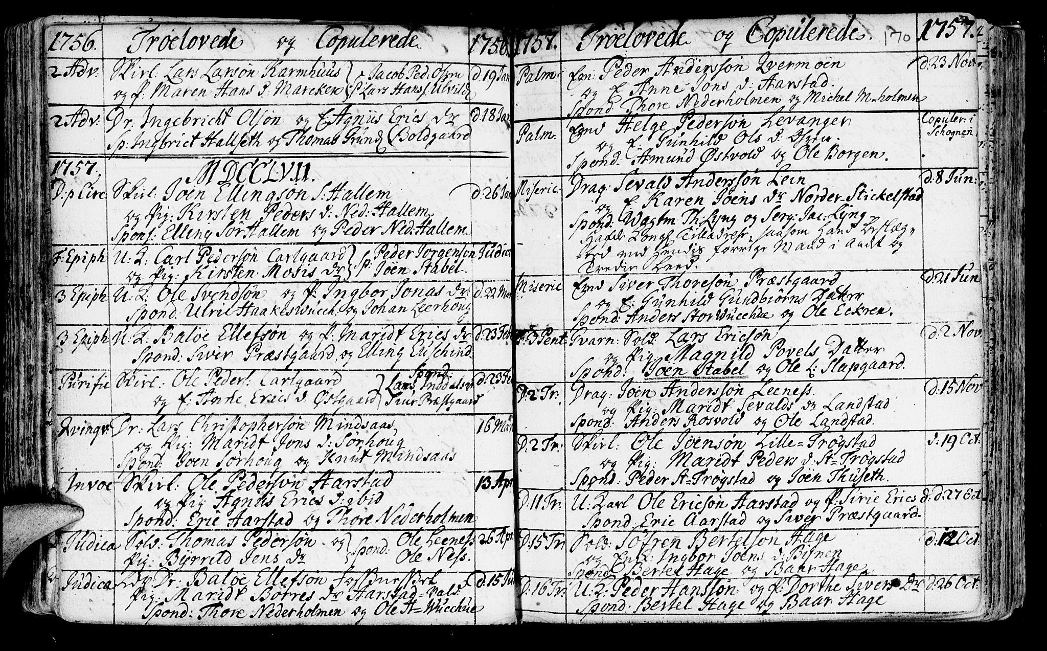 SAT, Ministerialprotokoller, klokkerbøker og fødselsregistre - Nord-Trøndelag, 723/L0231: Ministerialbok nr. 723A02, 1748-1780, s. 170