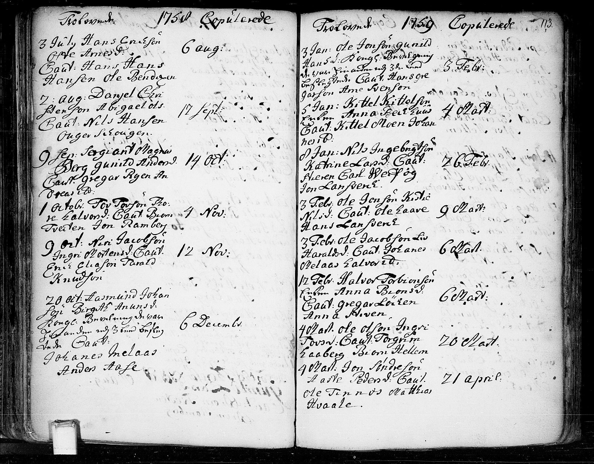 SAKO, Heddal kirkebøker, F/Fa/L0003: Ministerialbok nr. I 3, 1723-1783, s. 113