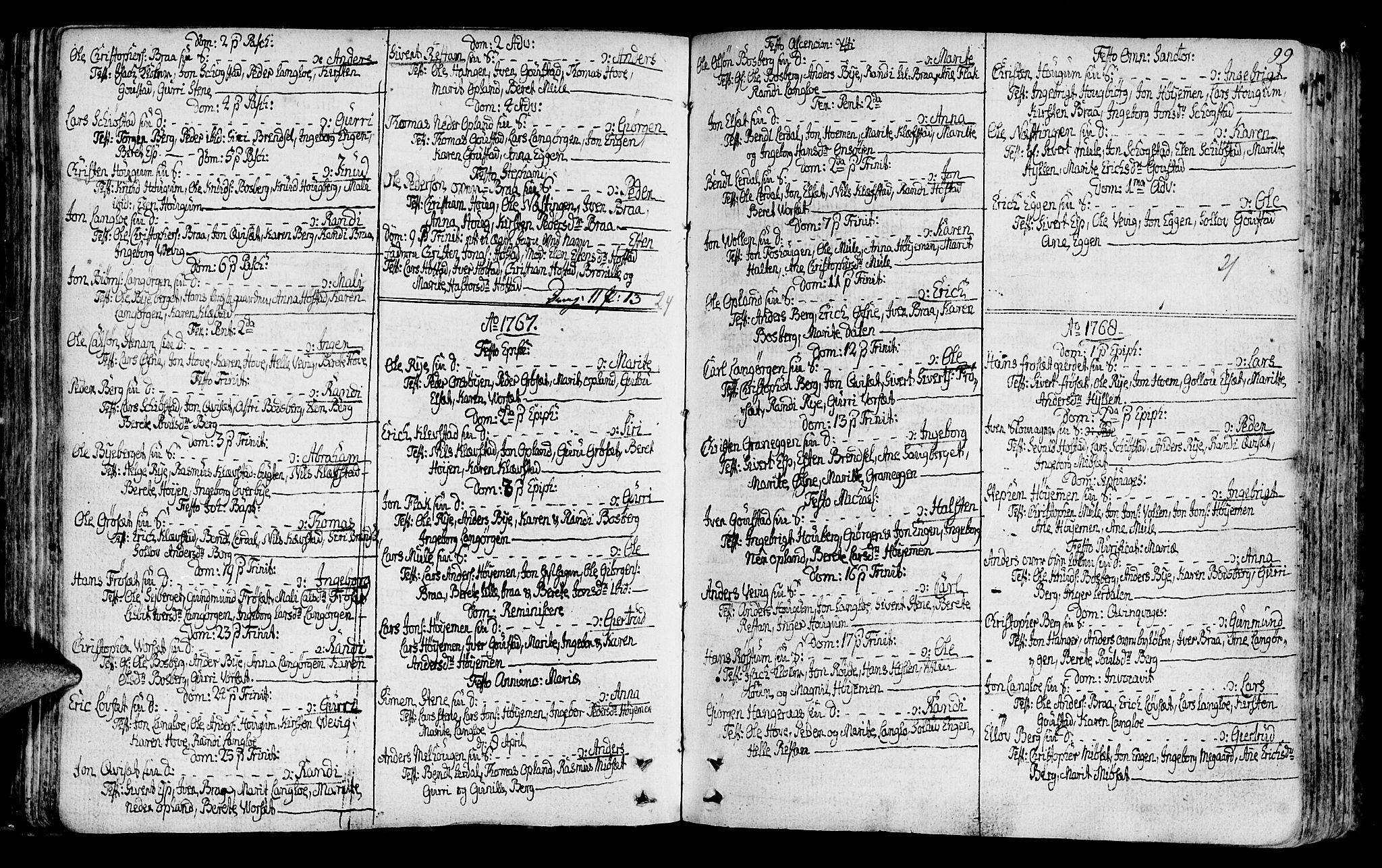 SAT, Ministerialprotokoller, klokkerbøker og fødselsregistre - Sør-Trøndelag, 612/L0370: Ministerialbok nr. 612A04, 1754-1802, s. 99