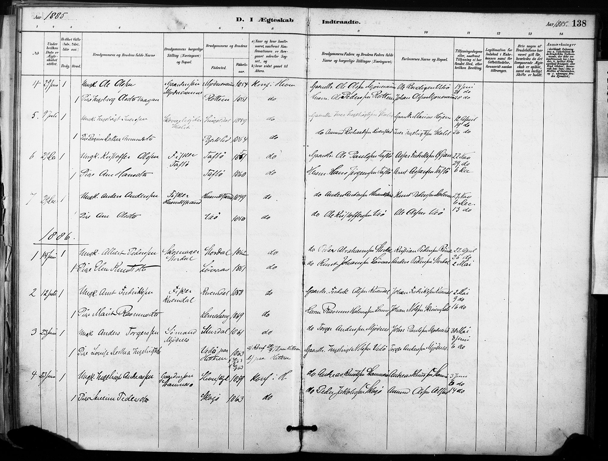 SAT, Ministerialprotokoller, klokkerbøker og fødselsregistre - Sør-Trøndelag, 633/L0518: Ministerialbok nr. 633A01, 1884-1906, s. 138