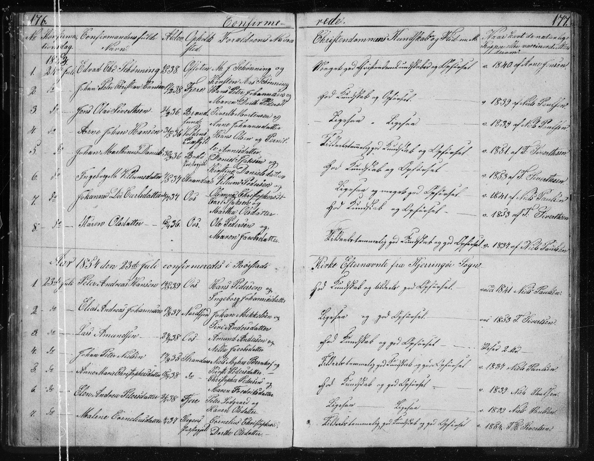 SAT, Ministerialprotokoller, klokkerbøker og fødselsregistre - Nordland, 803/L0074: Klokkerbok nr. 803C01, 1845-1866, s. 176-177