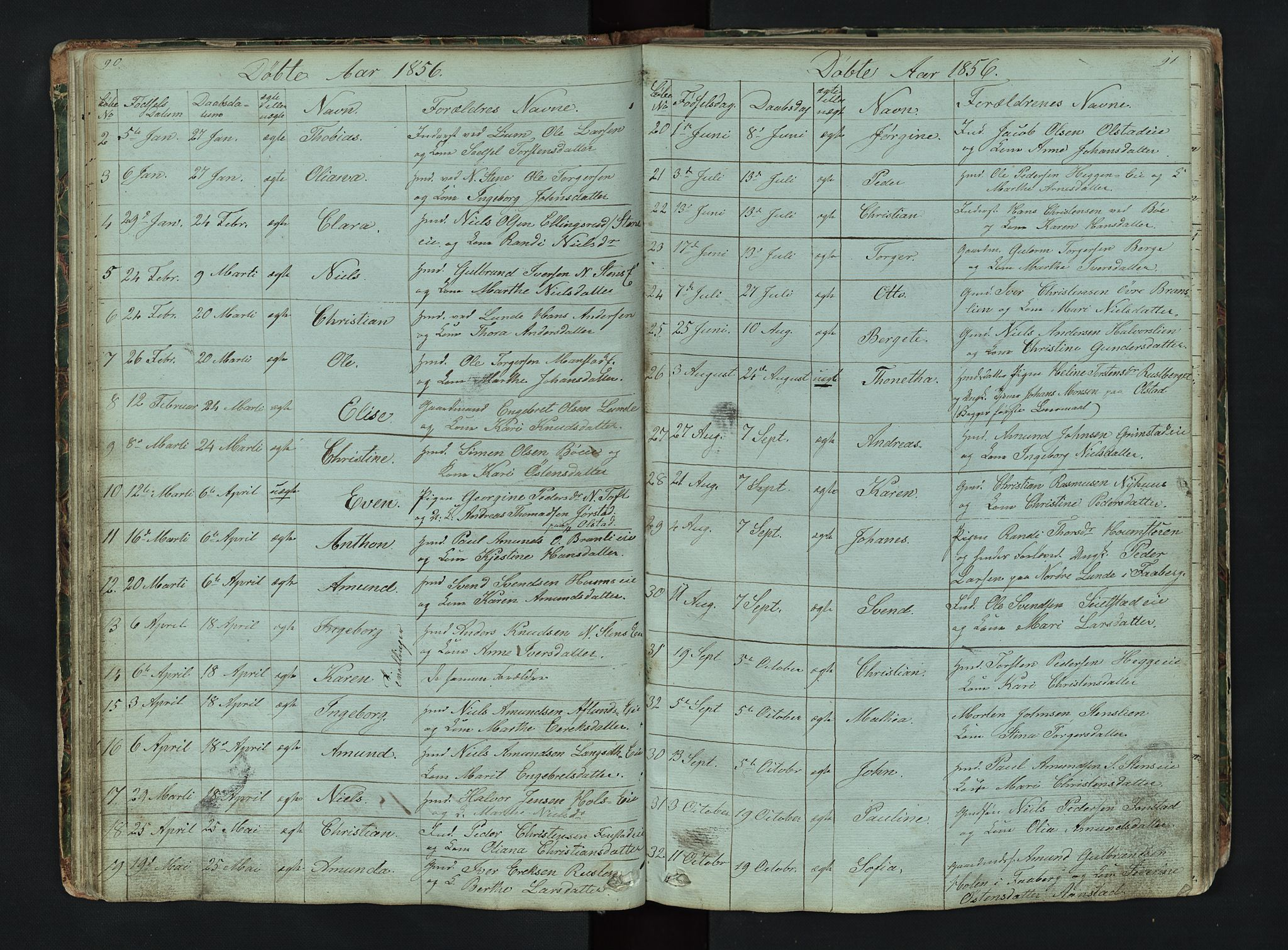 SAH, Gausdal prestekontor, Klokkerbok nr. 6, 1846-1893, s. 90-91