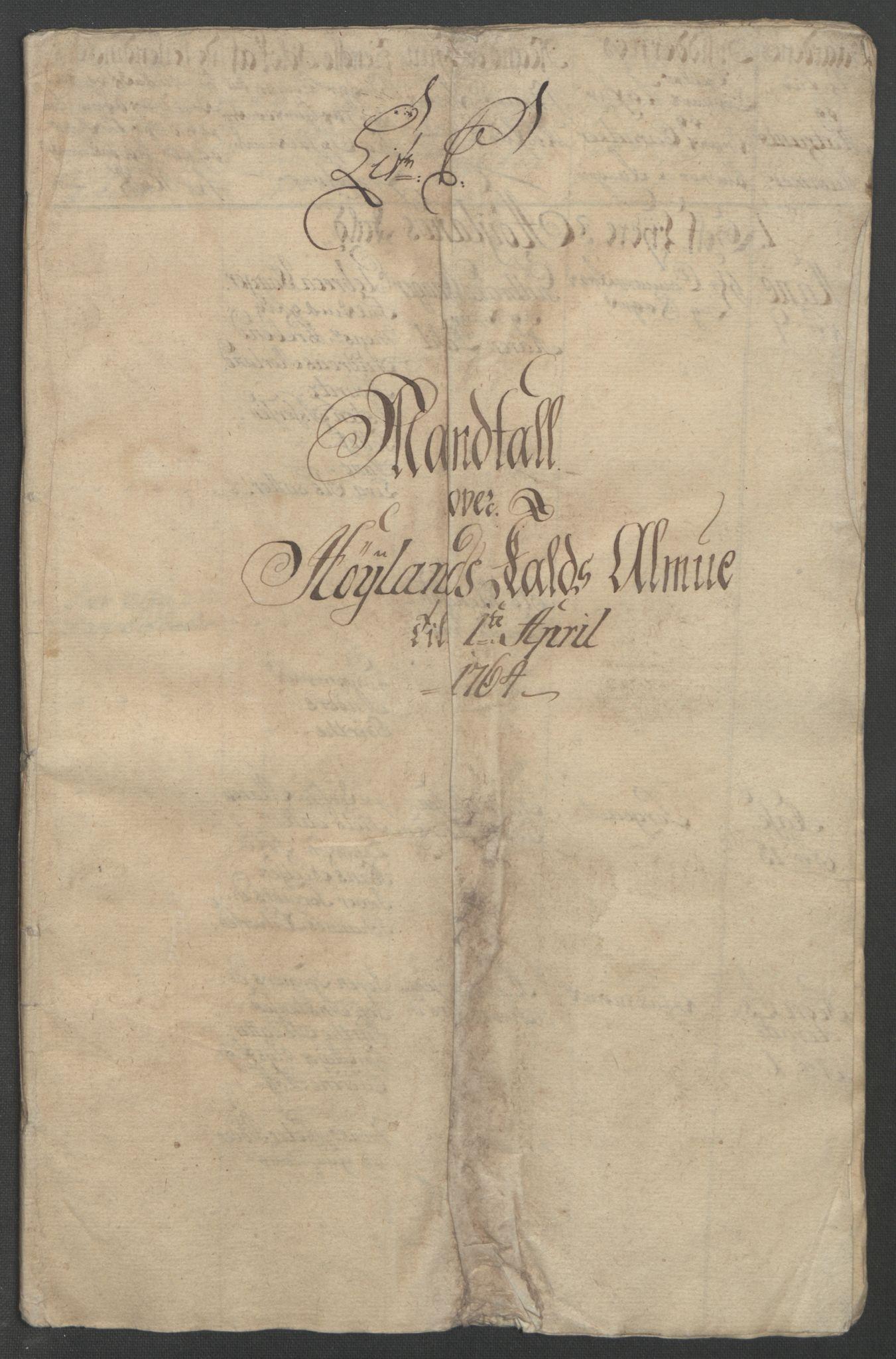 RA, Rentekammeret inntil 1814, Reviderte regnskaper, Fogderegnskap, R46/L2835: Ekstraskatten Jæren og Dalane, 1762-1764, s. 190