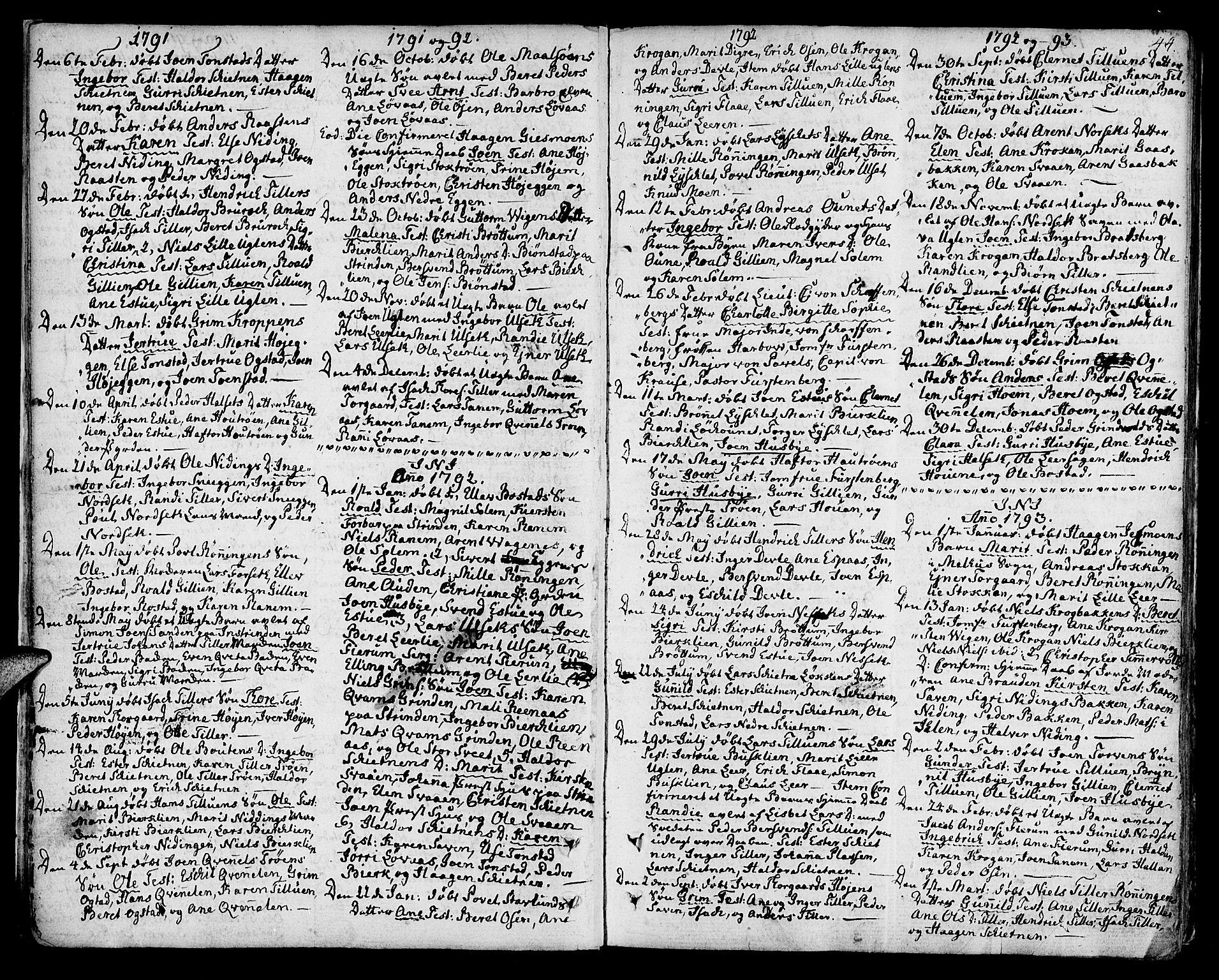 SAT, Ministerialprotokoller, klokkerbøker og fødselsregistre - Sør-Trøndelag, 618/L0438: Ministerialbok nr. 618A03, 1783-1815, s. 44