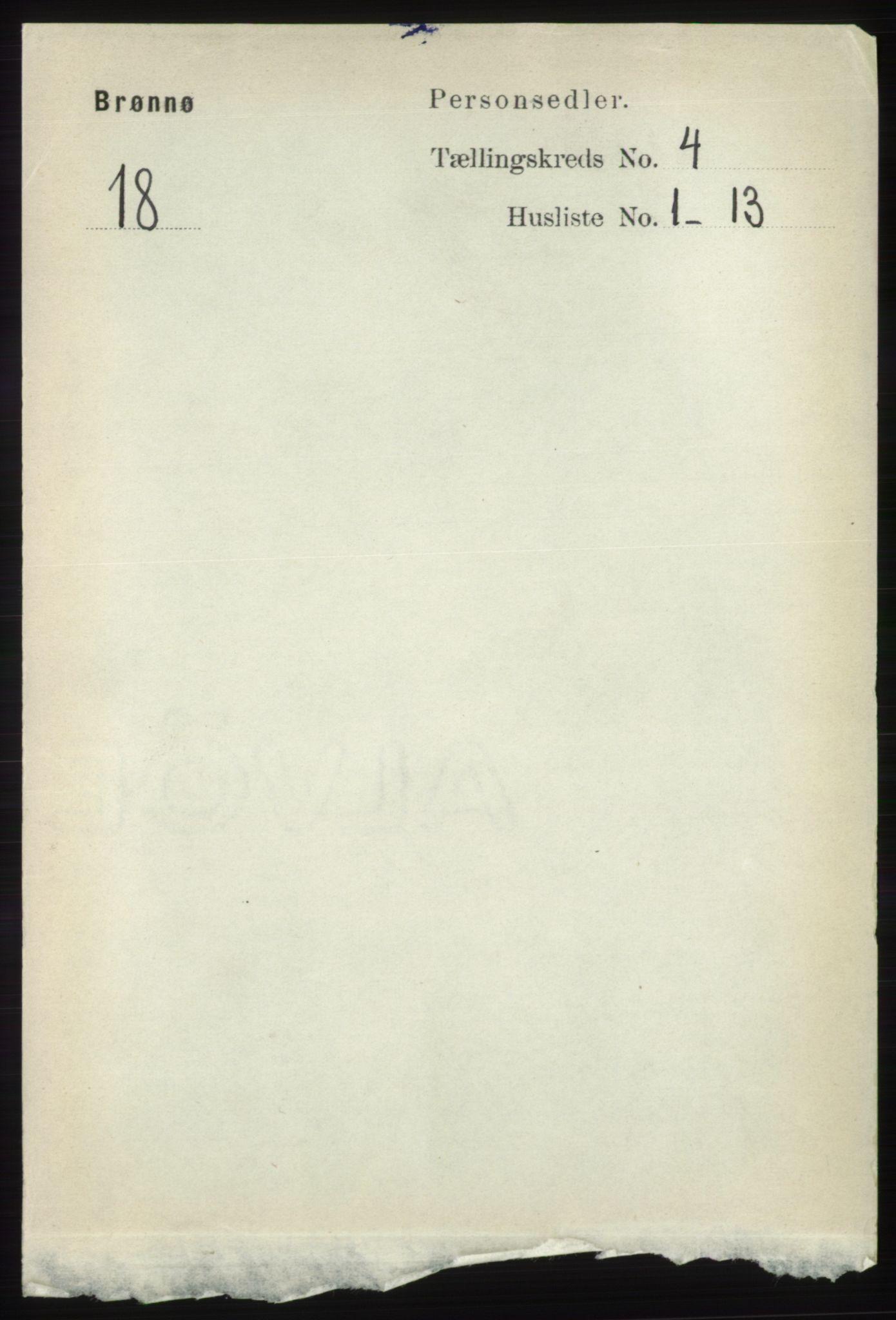 RA, Folketelling 1891 for 1814 Brønnøy herred, 1891, s. 2011