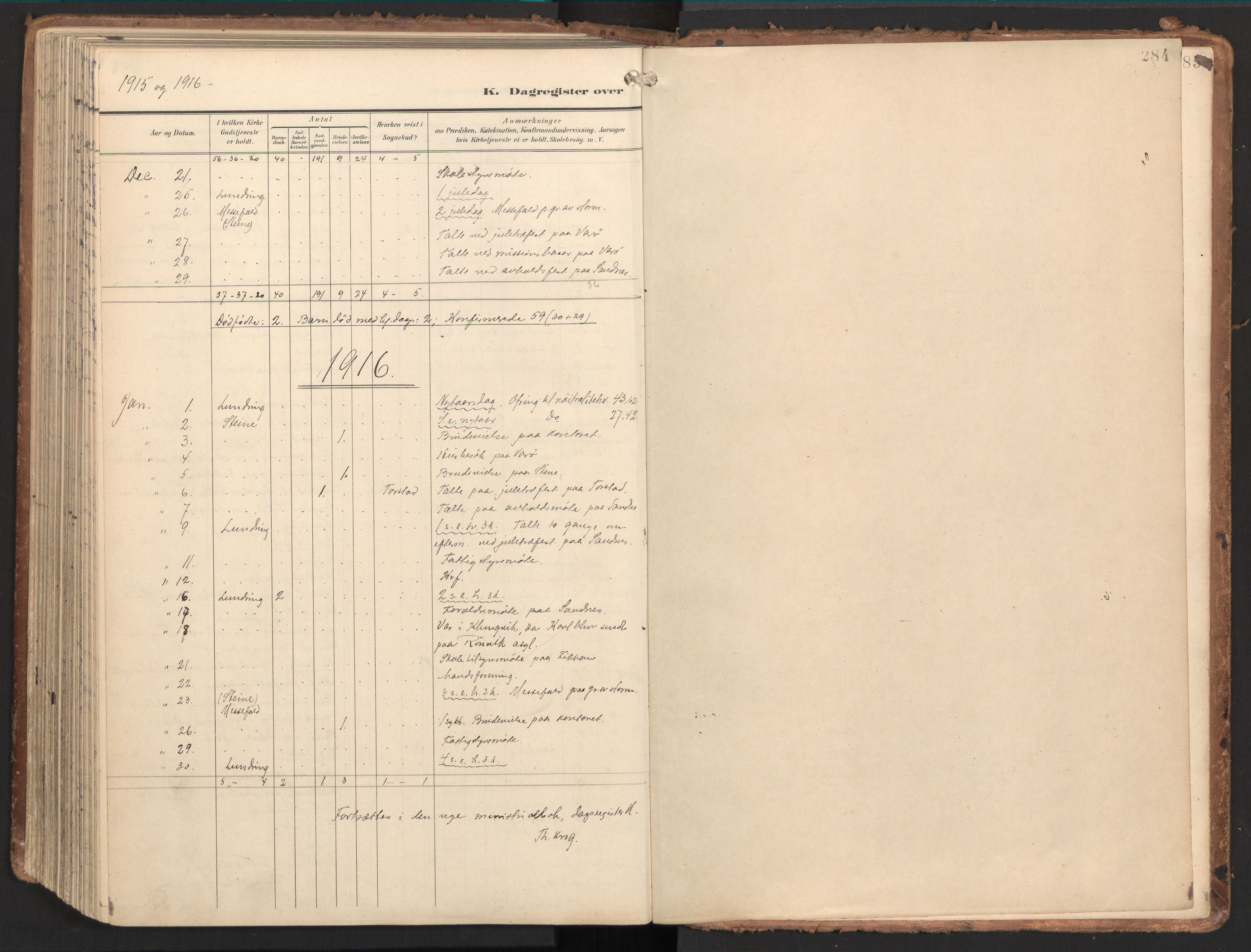 SAT, Ministerialprotokoller, klokkerbøker og fødselsregistre - Nord-Trøndelag, 784/L0677: Ministerialbok nr. 784A12, 1900-1920, s. 284